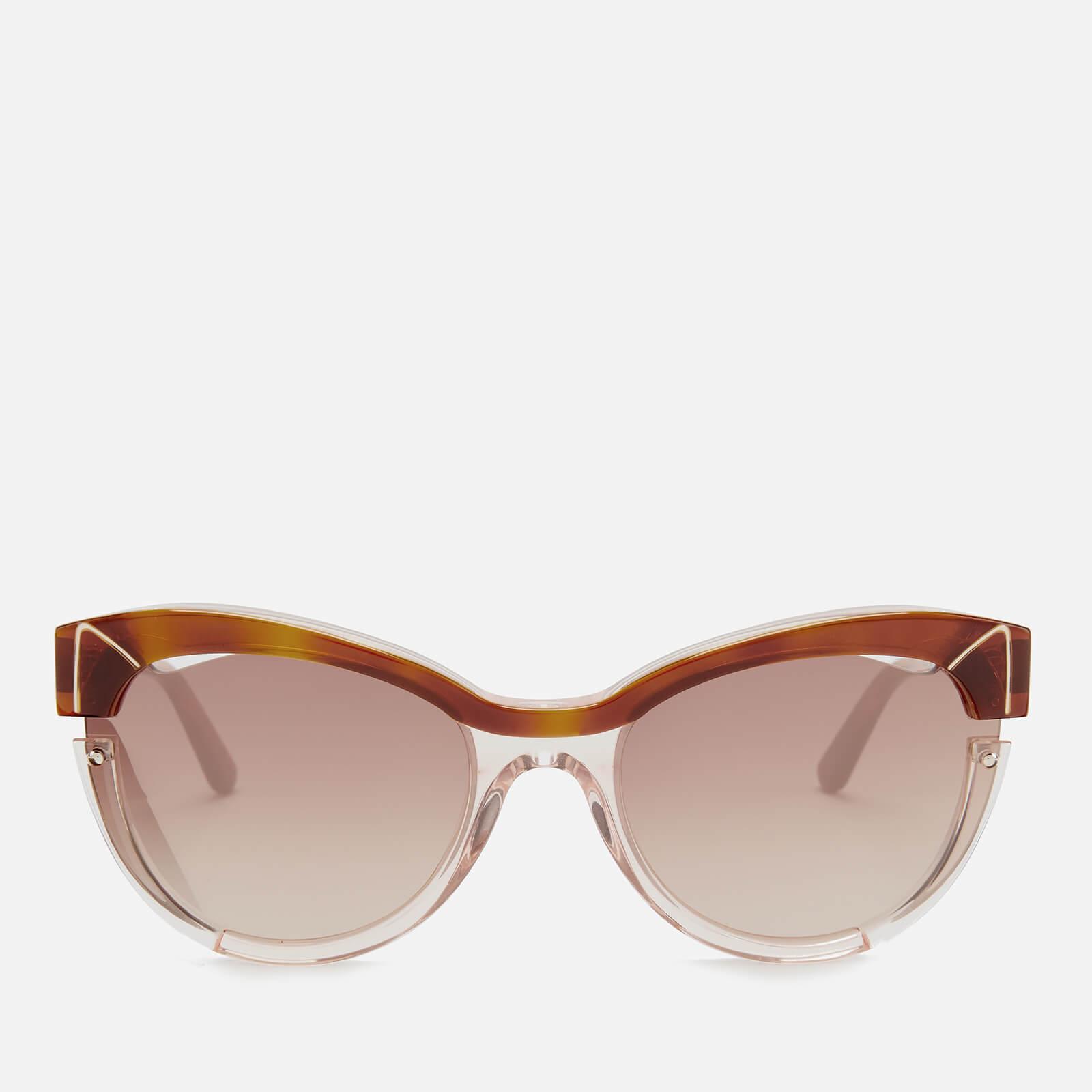 Karl Lagerfeld Women's Cat Eye Frame Sunglasses - Blonde Havana/Pink