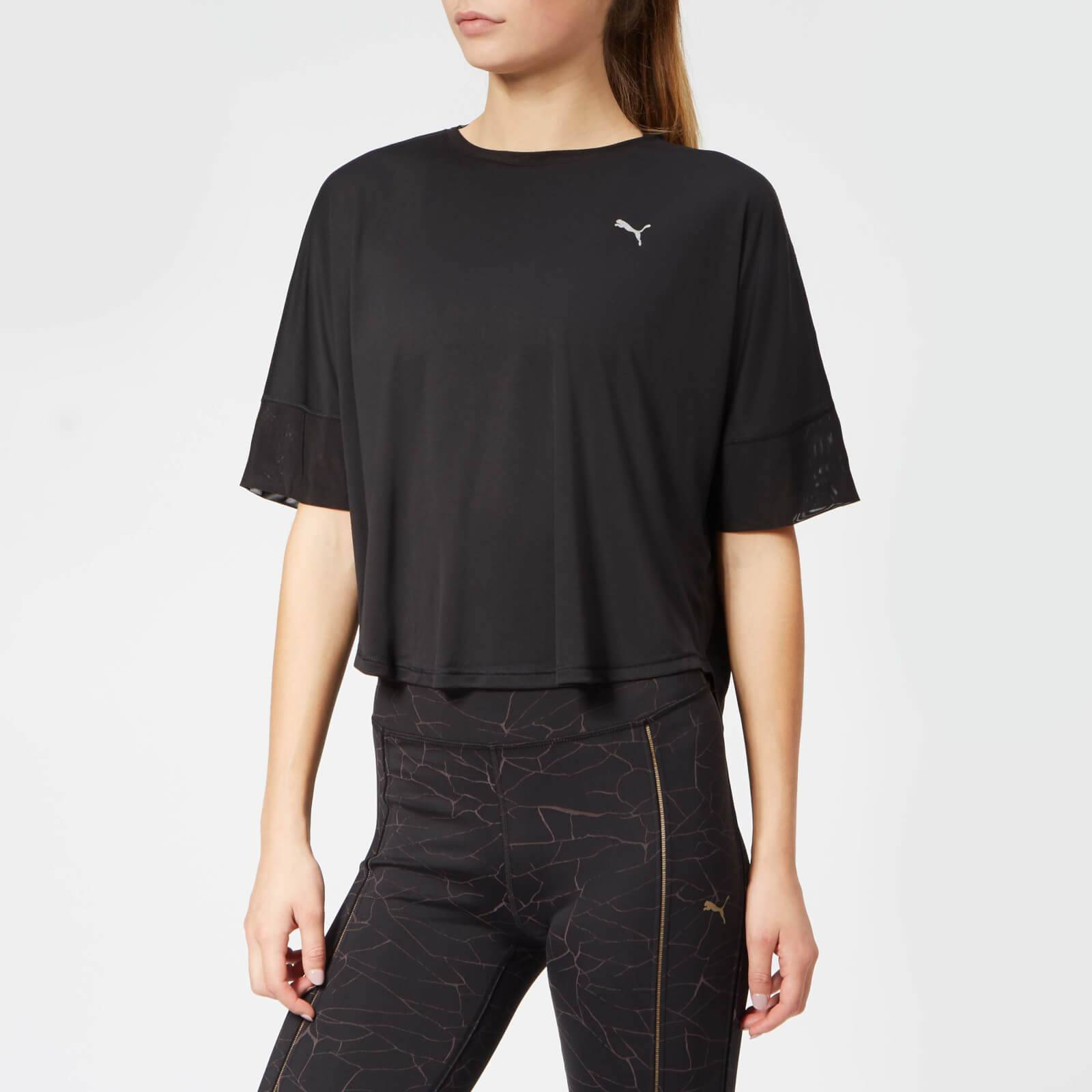Puma Women's Explosive Short Sleeve T-Shirt - L/UK 14 - Black
