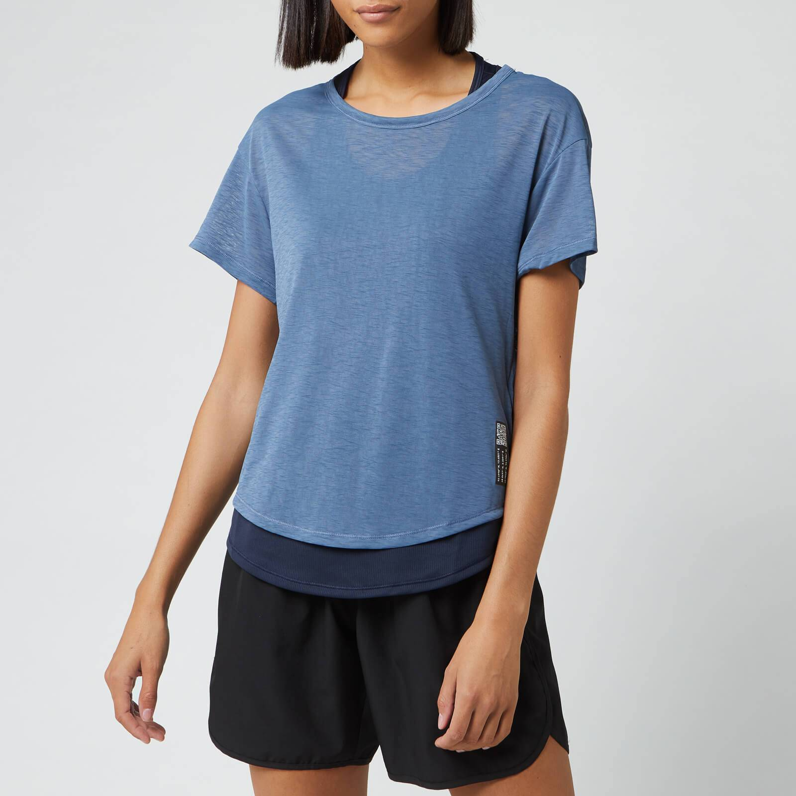 adidas Women's Adapt Short Sleeve T-Shirt - Blue - XS - Blue