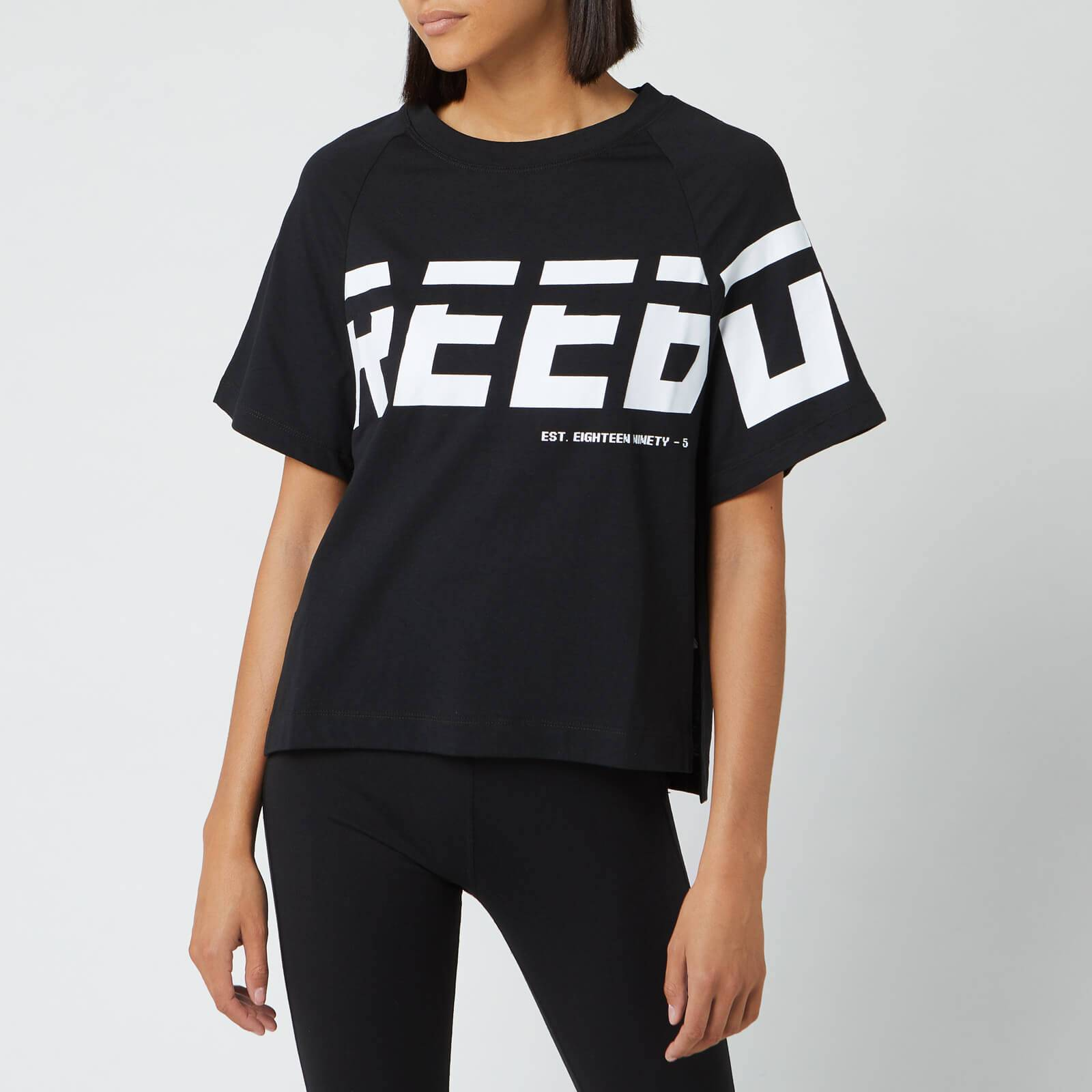Reebok Women's WOR MYT Graphic Short Sleeve T-Shirt - Black - XS - Black