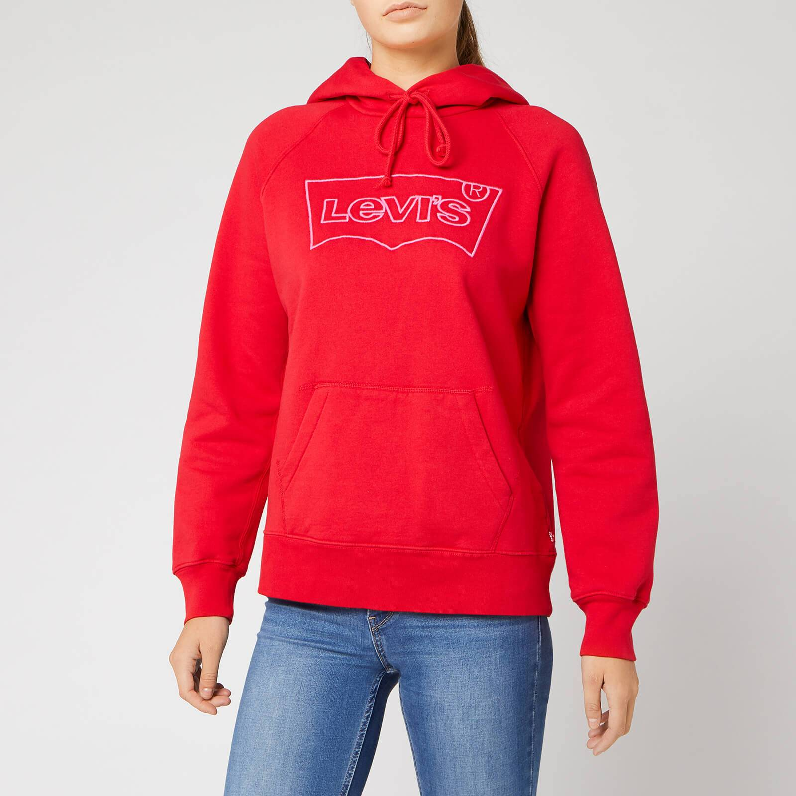 Levi's s Graphic Sport Hoodie - Hsmk Outline Hoodie Brilliant Red - XS