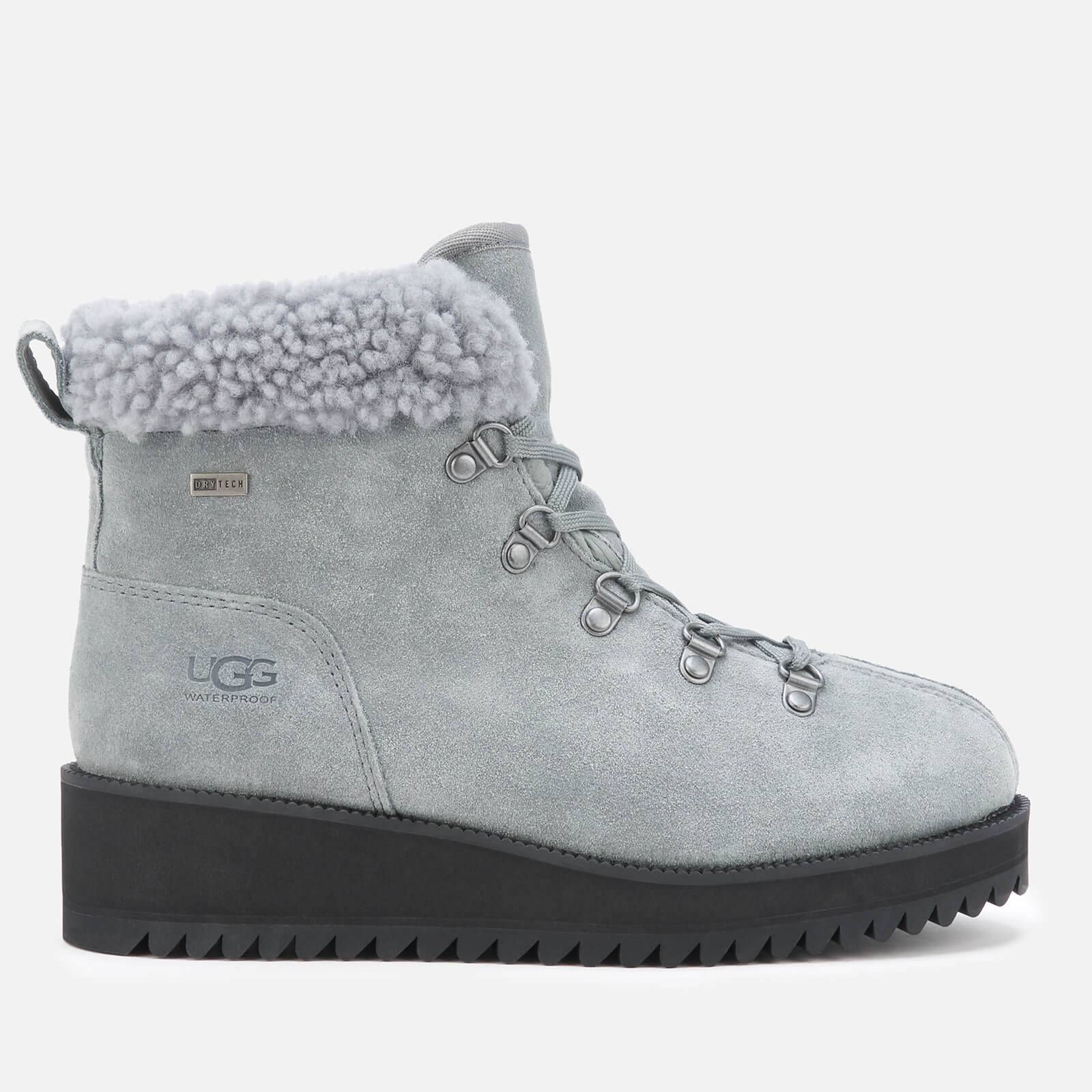 UGG Women's Birch Lace up Shearling Hiker Boots - Geyser - UK 8