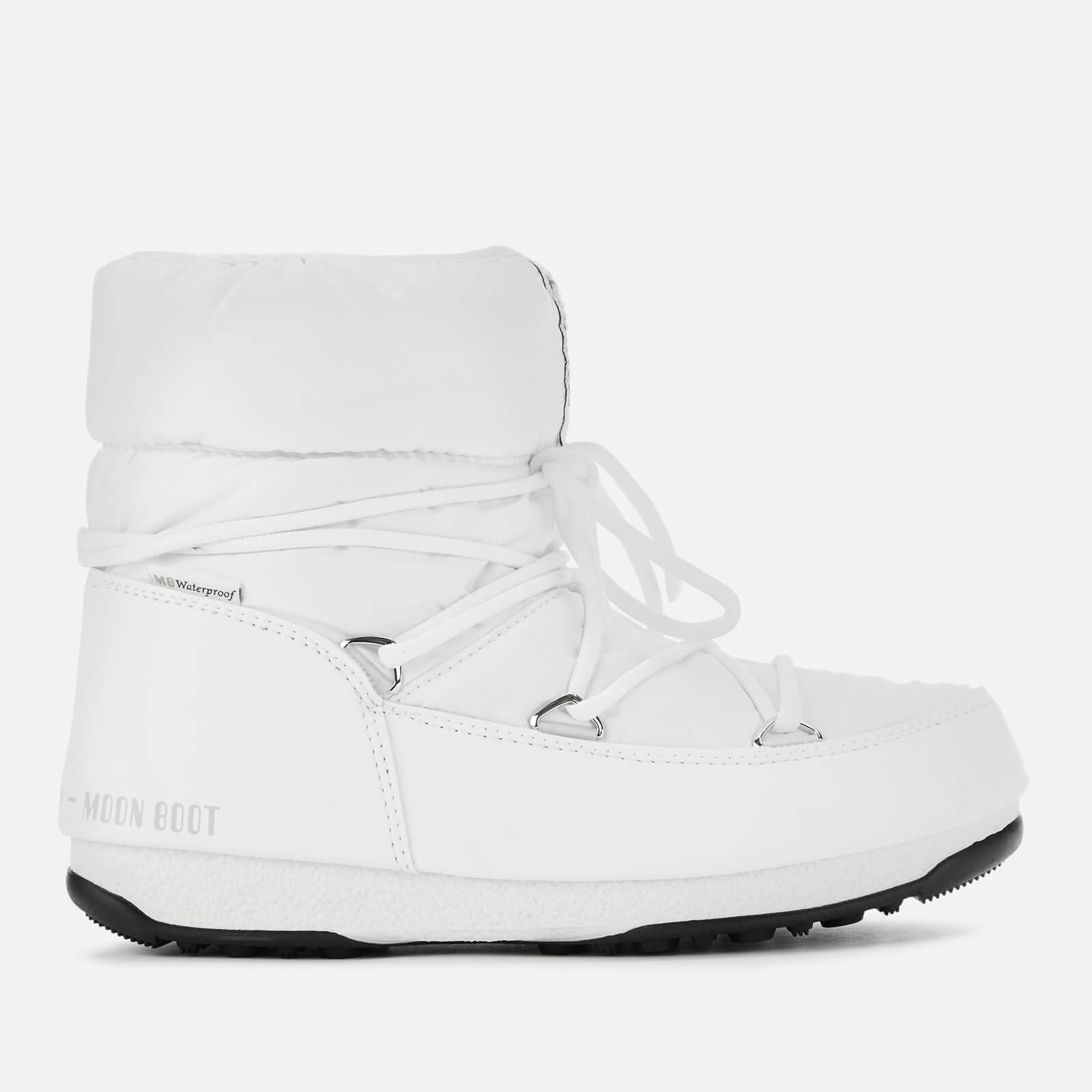 Moon Boot Women's Low Nylon Waterproof 2 Boots - White - EU 40/UK 7