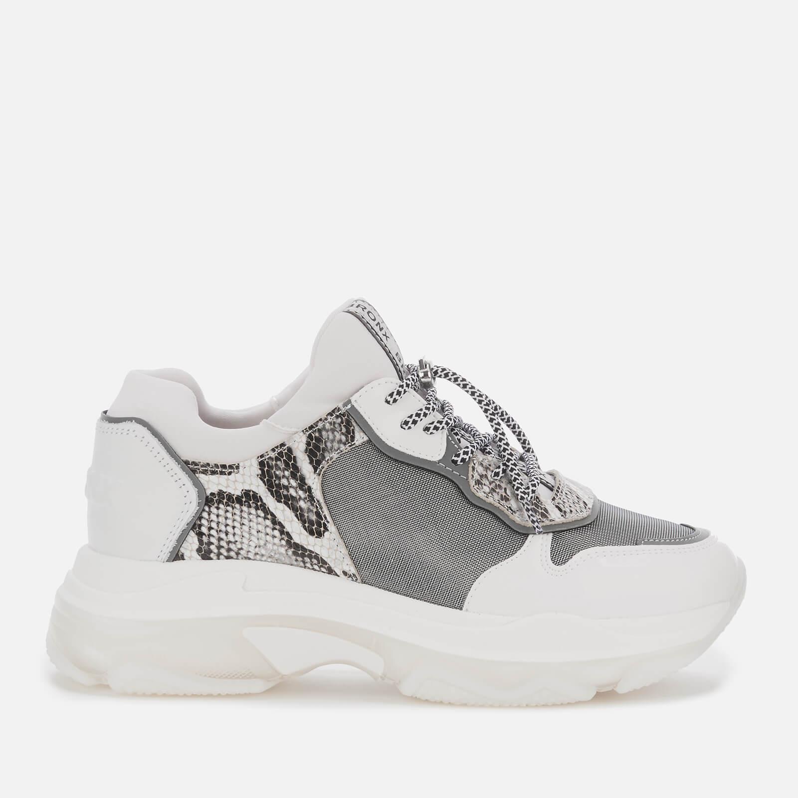 Bronx Women's Baisley Running Style Trainers - White/Silver - UK 7