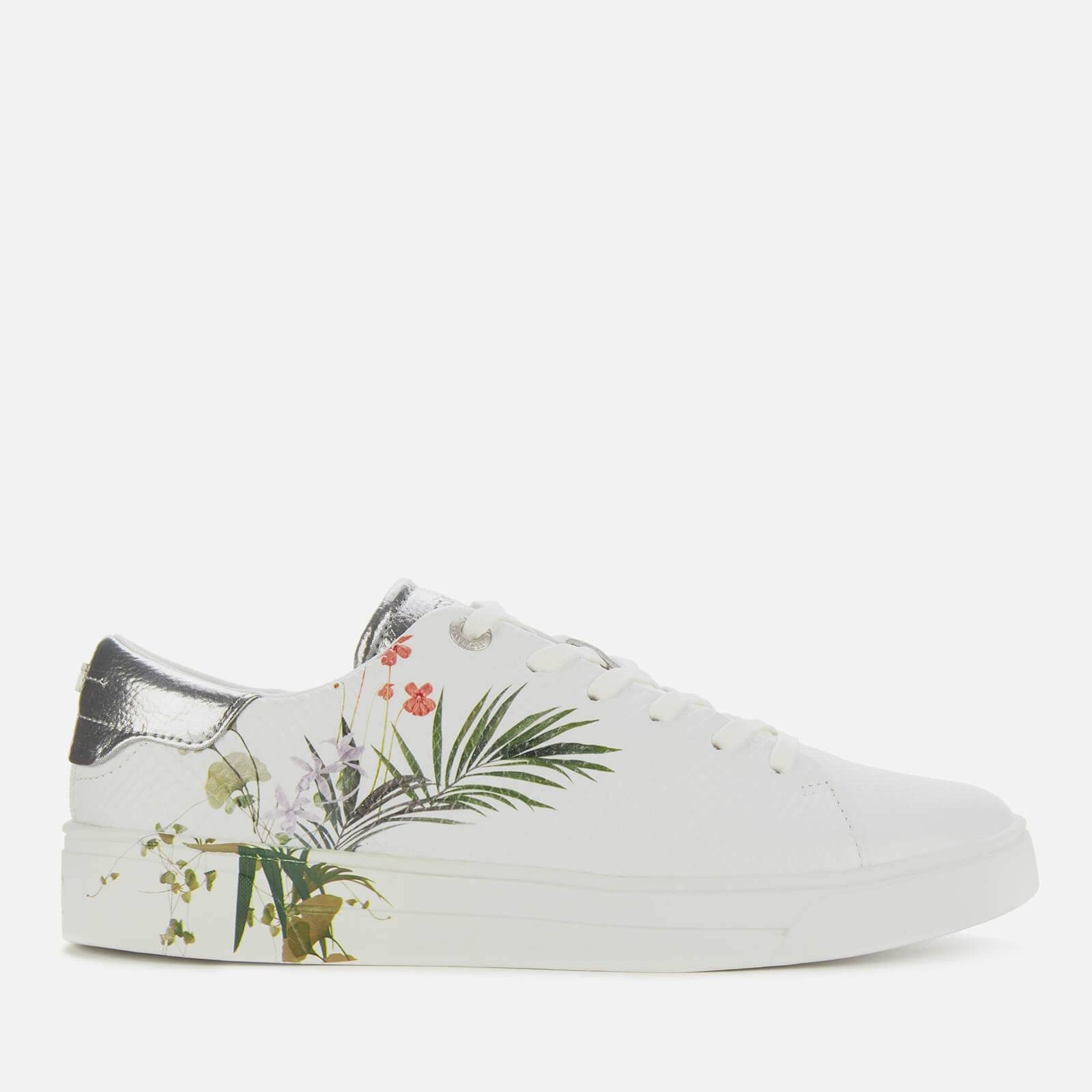 Ted Baker Women's Penil Leather Low Top Trainers - White - UK 4