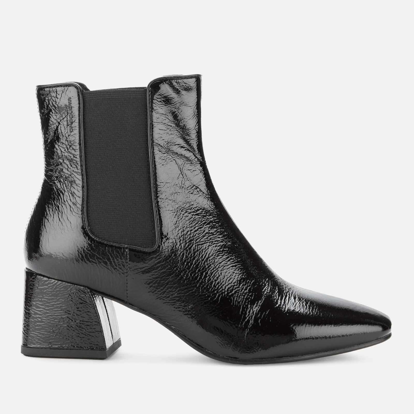 Vagabond Women's Alice Patent Leather Heeled Chelsea Boots - Black - UK 4