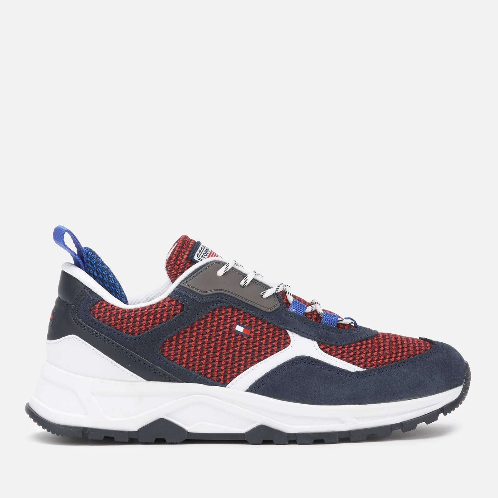 Tommy Hilfiger Men's Fashion Mix Chunky Running Style Trainers - Desert Sky - UK 7
