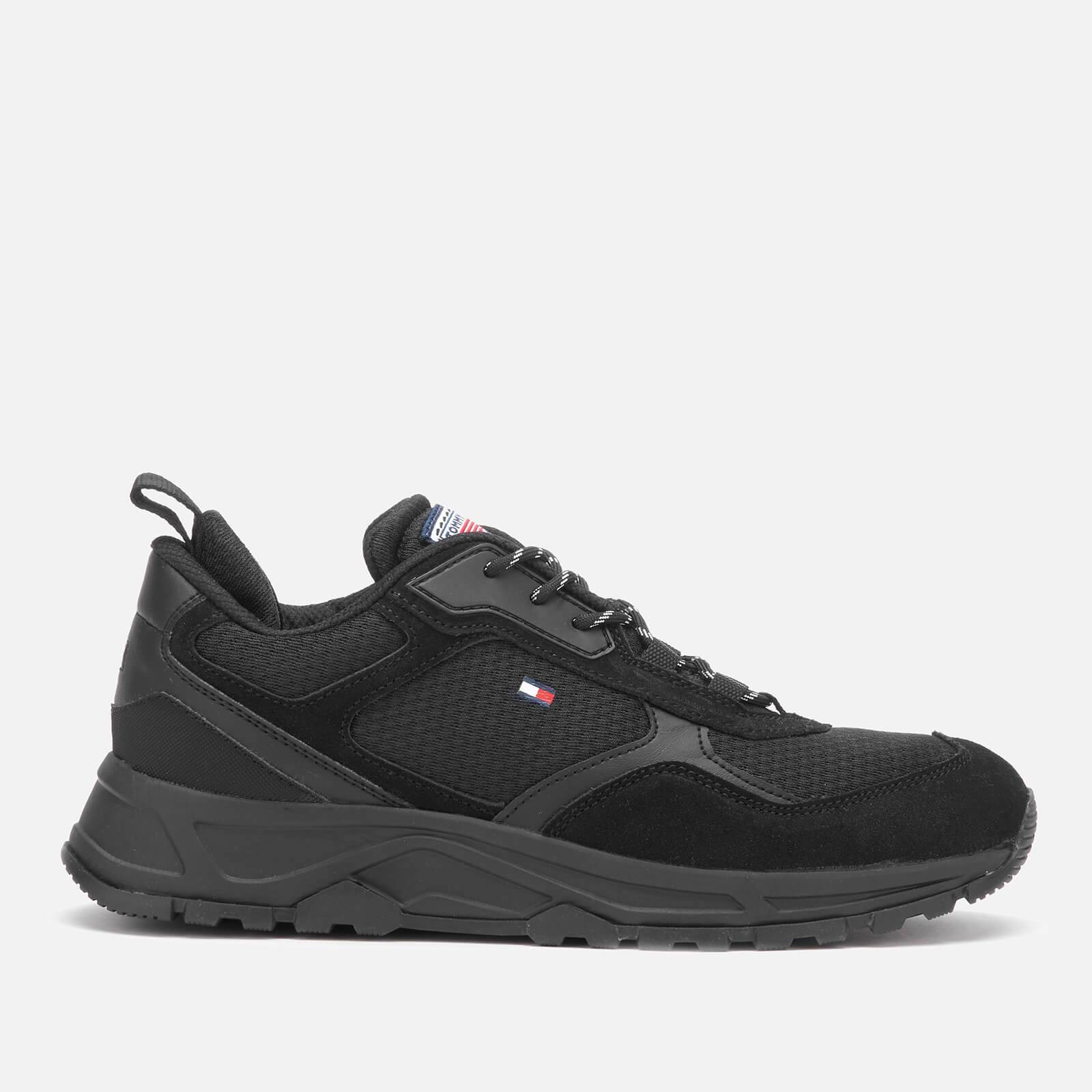 Tommy Hilfiger Men's Fashion Mix Chunky Running Style Trainers - Black - UK 11