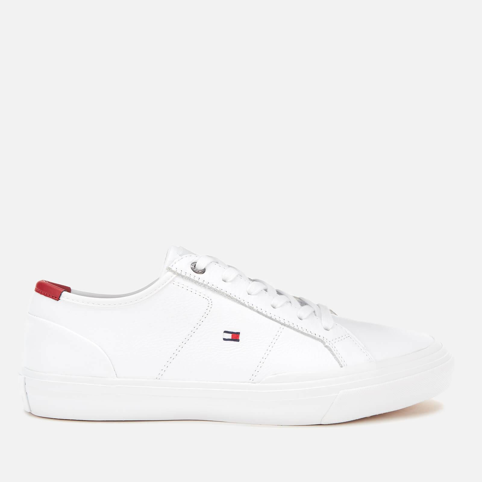 Tommy Hilfiger Men's Core Corporate Flag Low Top Trainers - White - UK 9