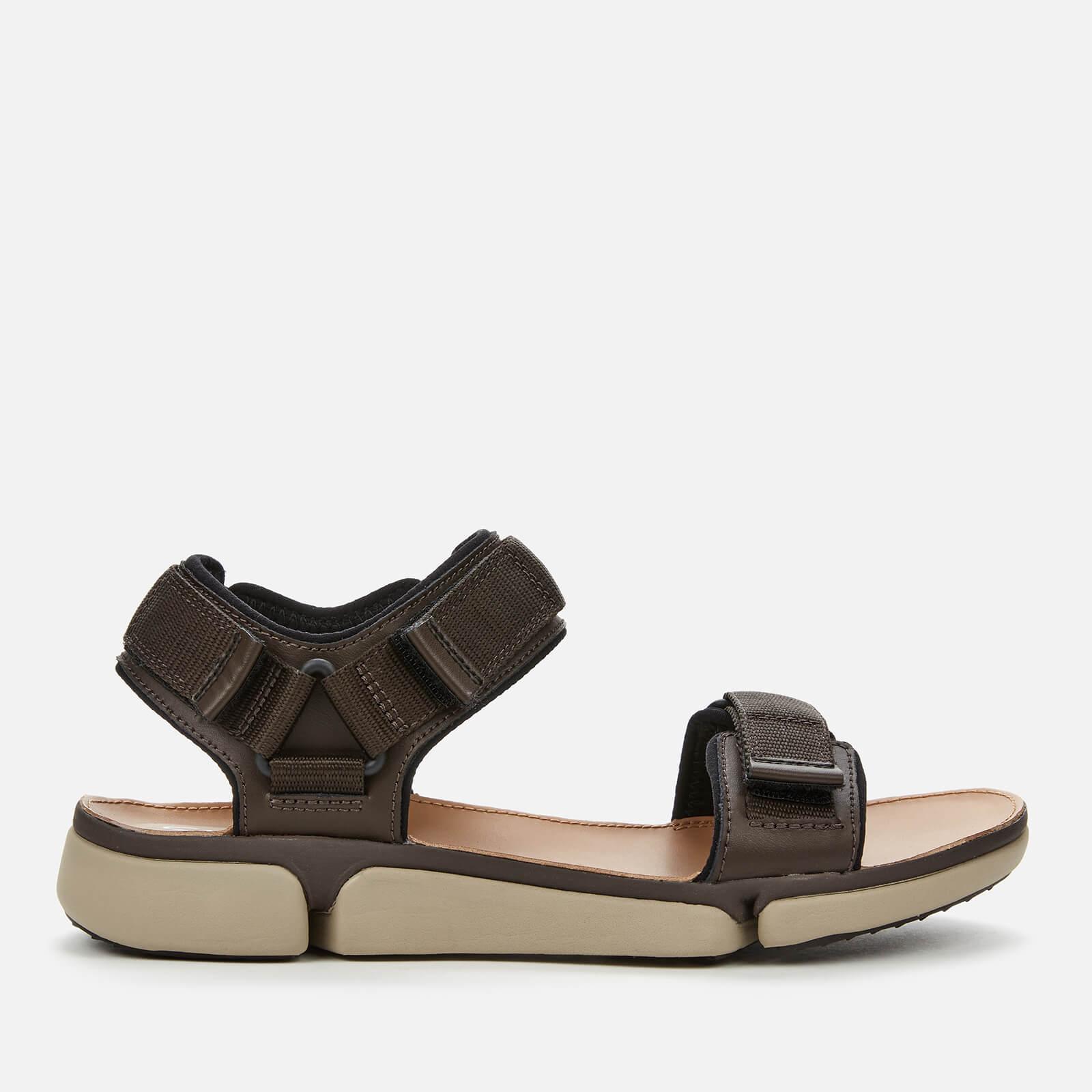 Clarks Men's Tri Cove Trail Outdoor Sandals - Dark Brown Combi - UK 8