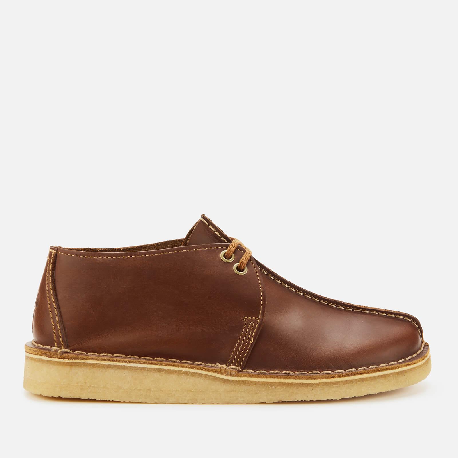 Clarks Originals Men's Desert Trek Leather Shoes - Tan - UK 10
