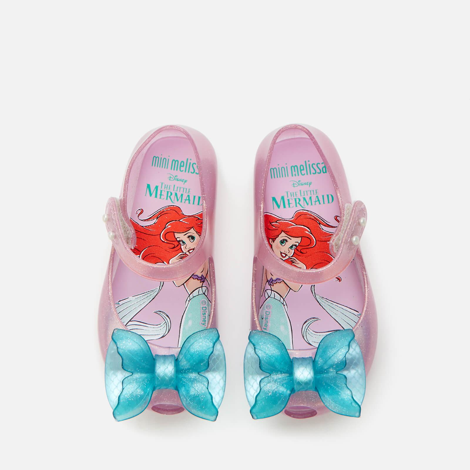 Mini Melissa Toddlers' Disney The Little Mermaid Ultragirl Flats - Purple/Aqua - UK 7 Toddler