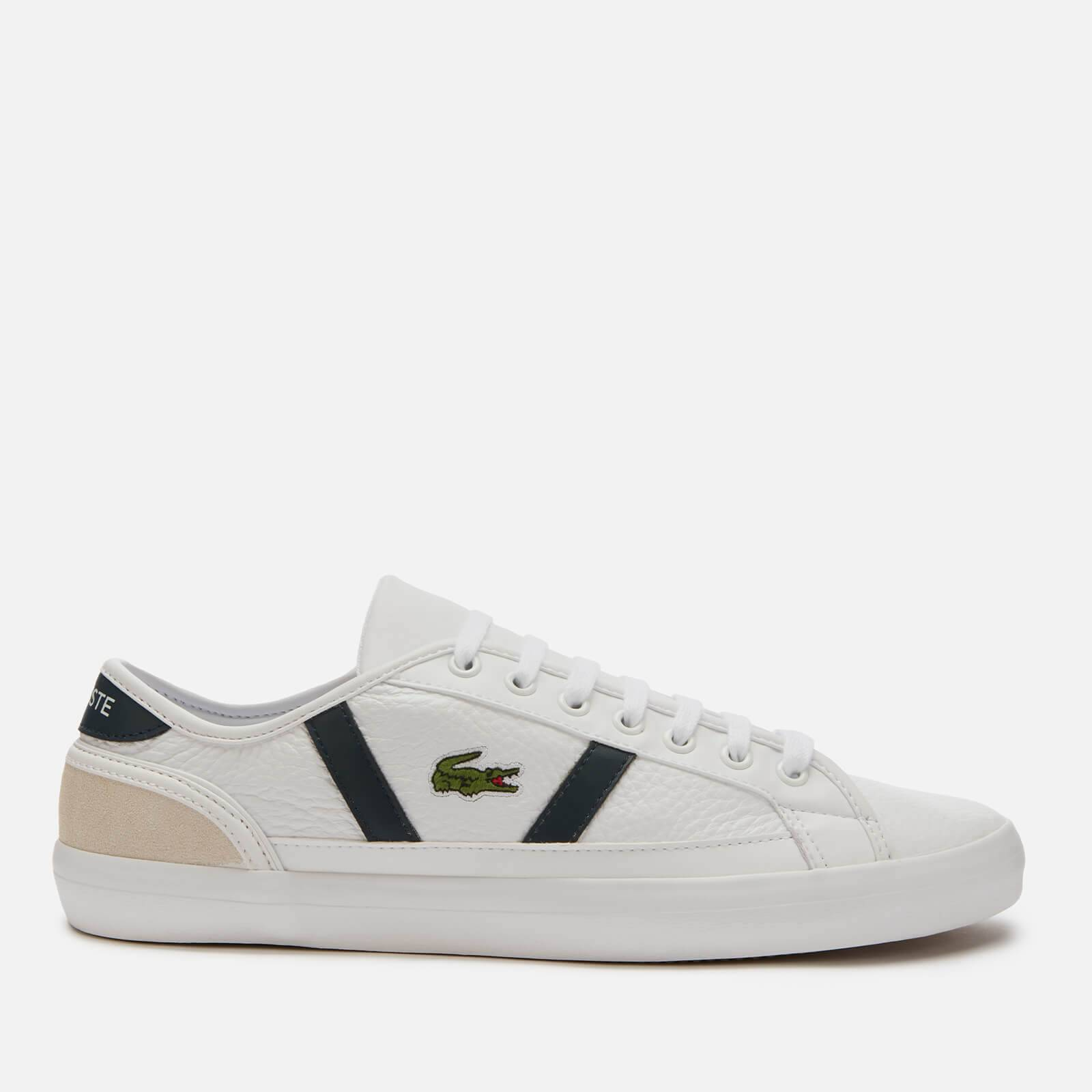 Lacoste Men's Sideline 120 3 Low Top Trainers - White/Off White - UK 11