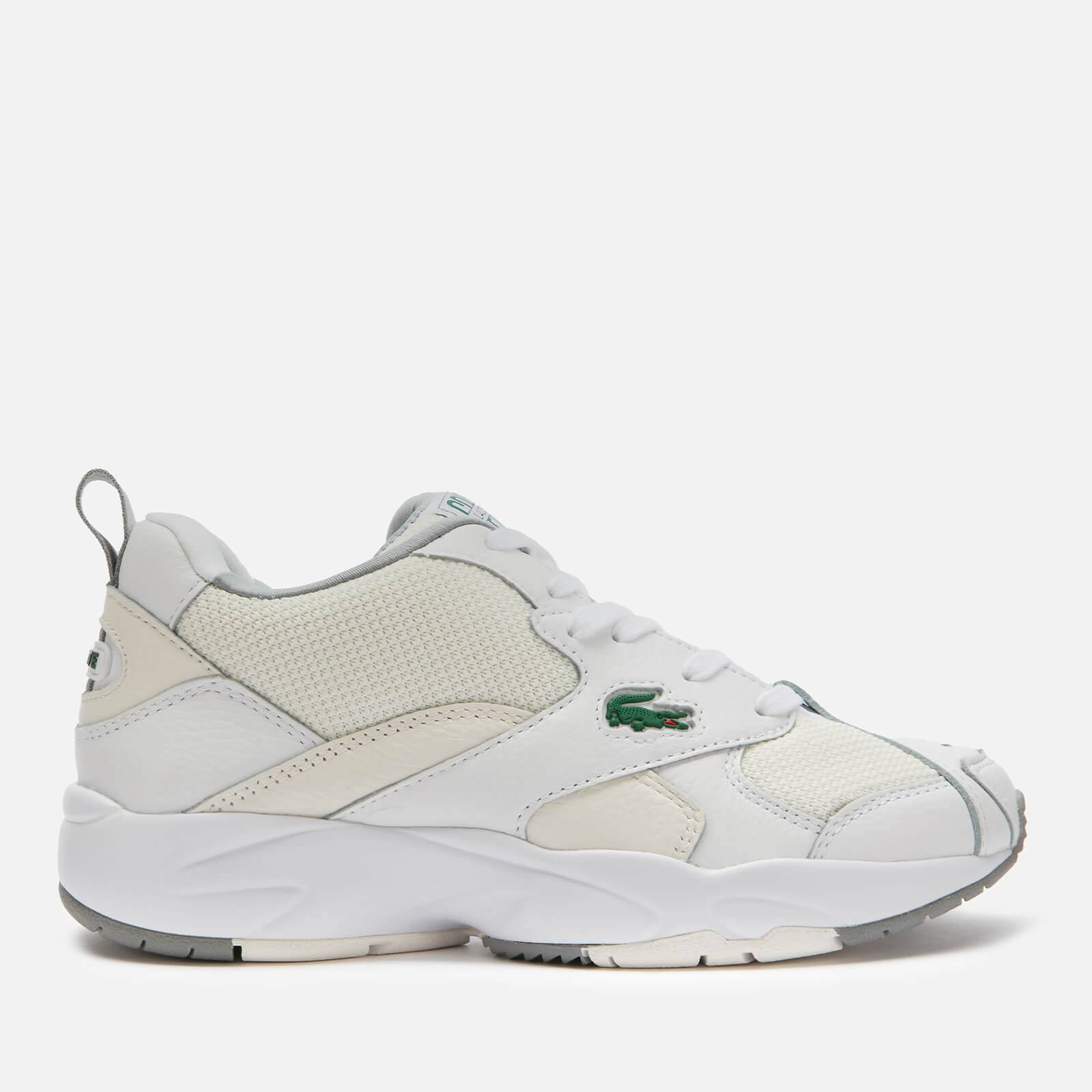 Lacoste Women's Storm 96 120 Chunky Running Style Trainers - White/Off White - UK 4
