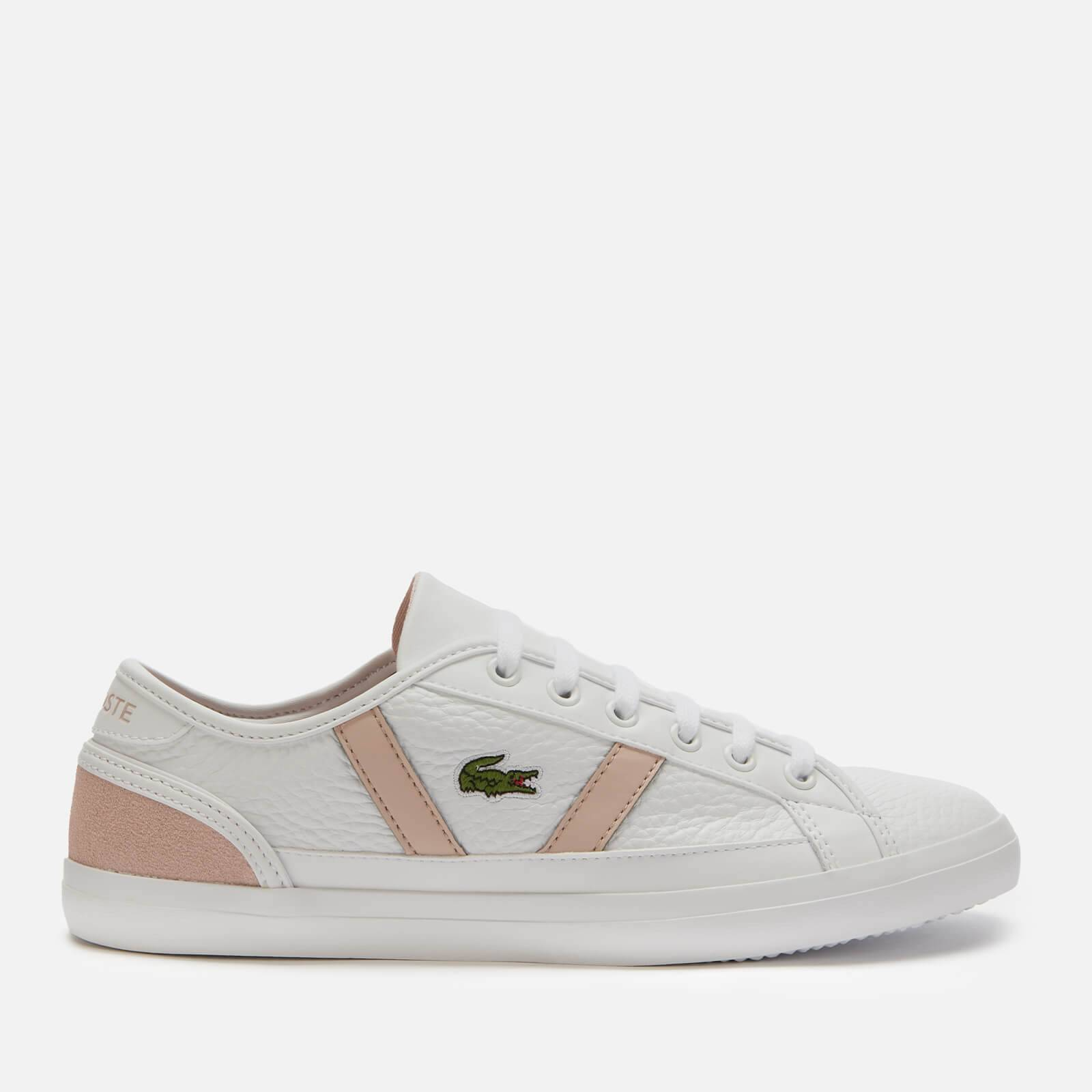 Lacoste Women's Sideline 120 Leather Low Top Trainers - White/Natural - UK 7