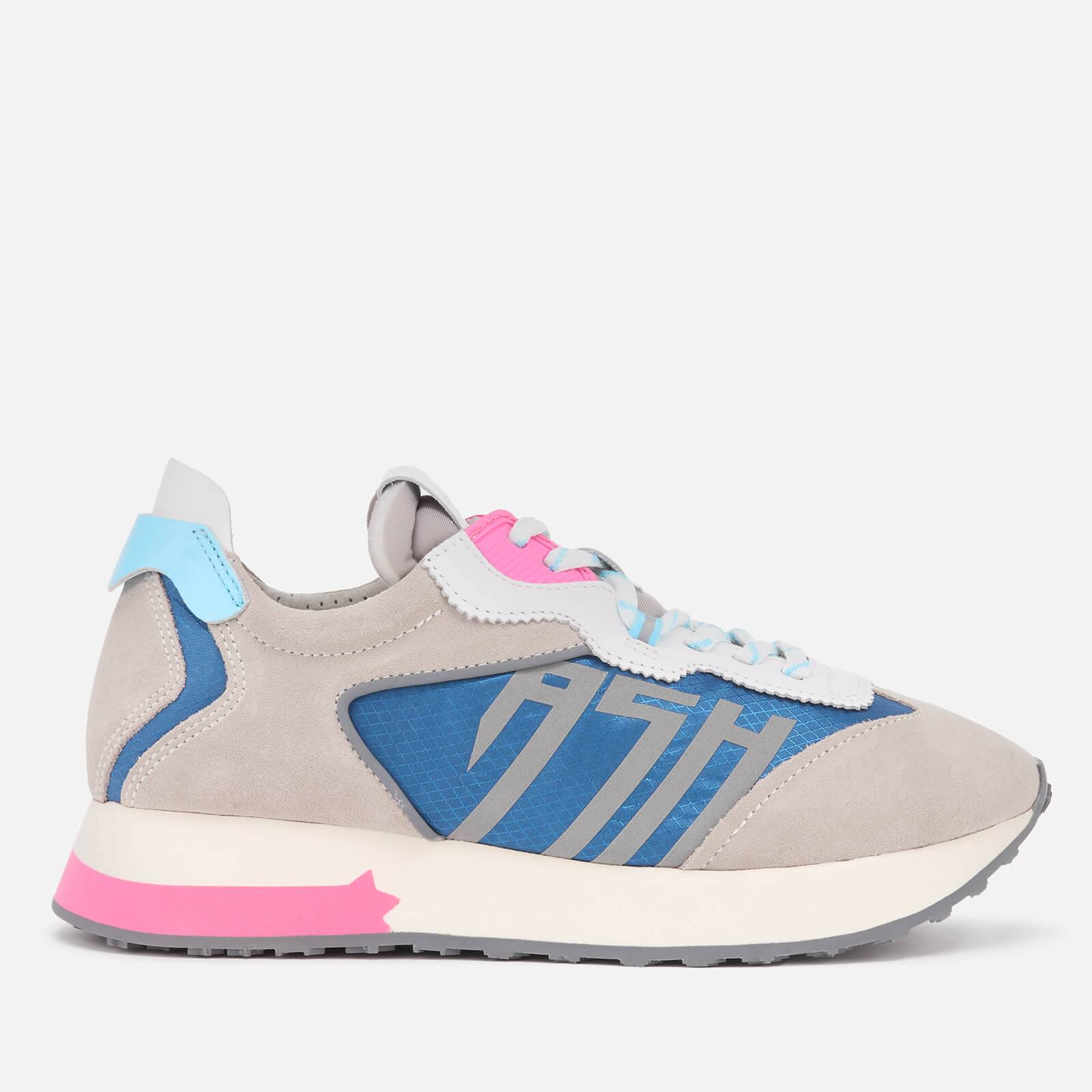 Ash Women's Tiger Running Style Trainers - Grey/White/Blue - UK 3
