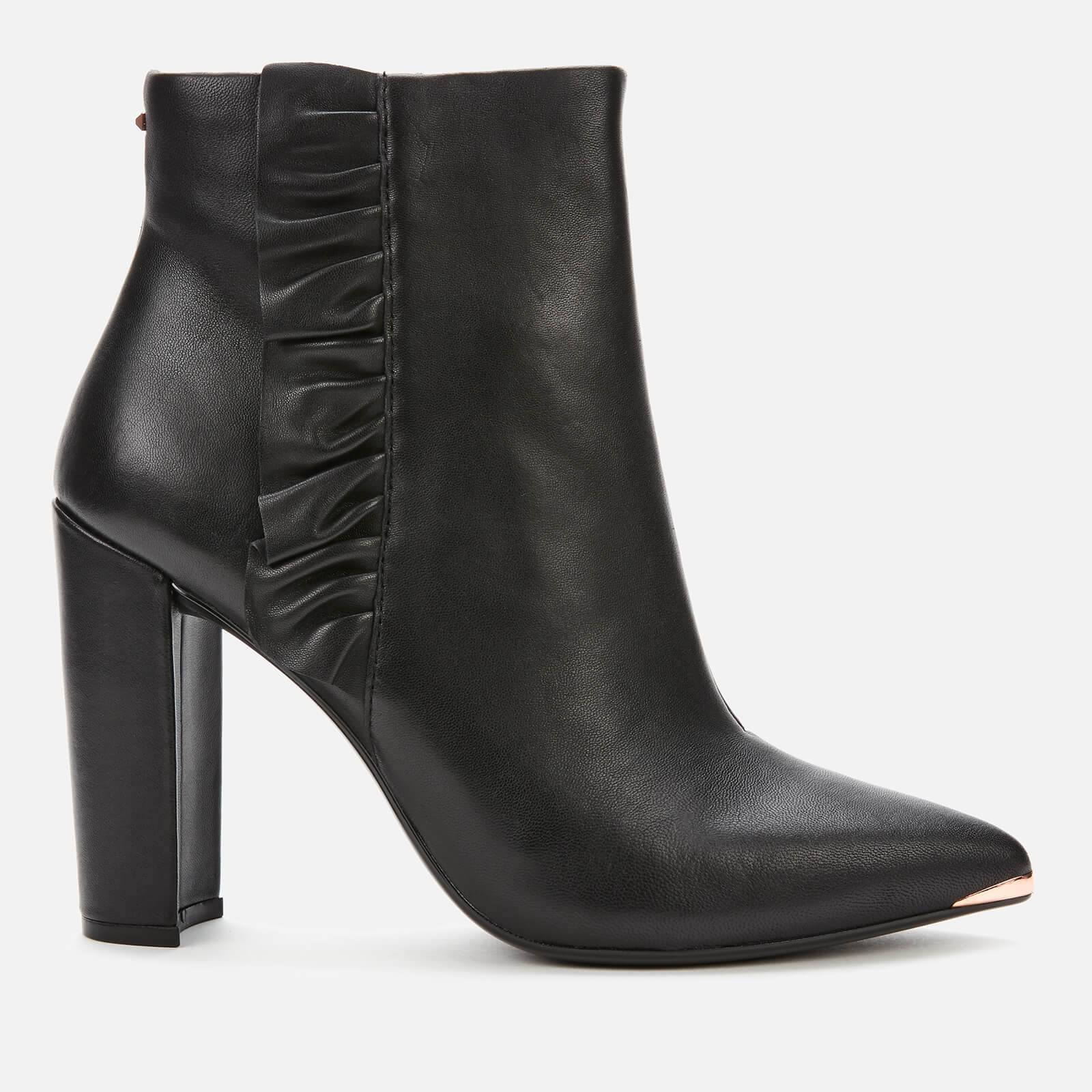 Ted Baker Women's Frillil Leather Ankle Boot - Black - UK 4