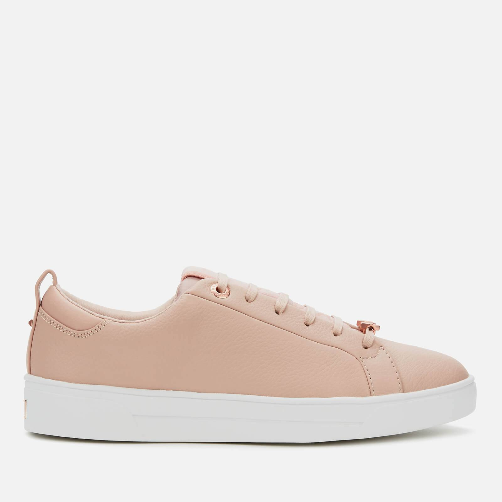 Ted Baker Women's Tedah Branded Leather Trainers - Pink - UK 4