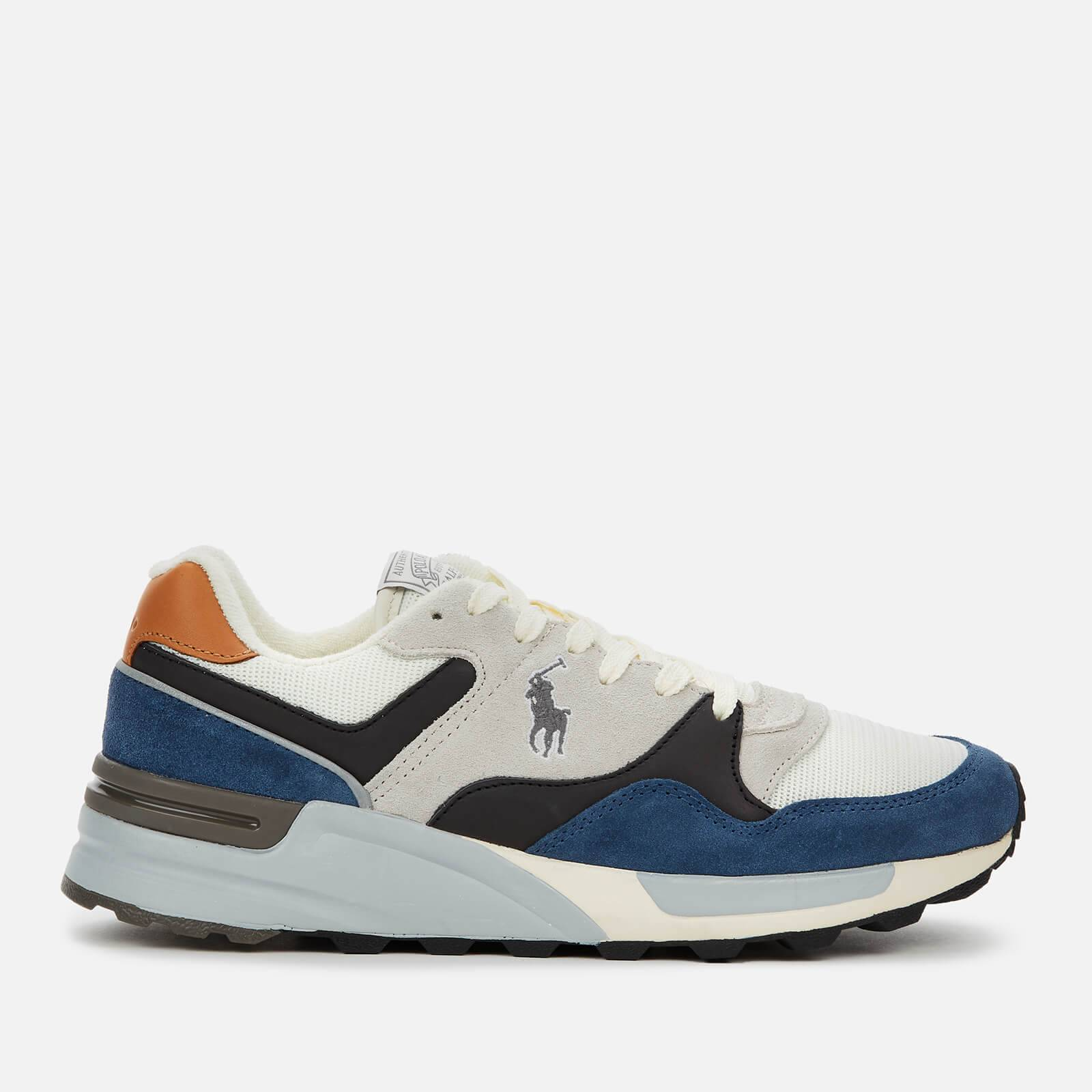 Ralph Lauren Polo Ralph Lauren Men's Trackstar Pony Suede/Leather/Mesh Running Style Trainers - Vintage Indigo/Skyline - UK 7