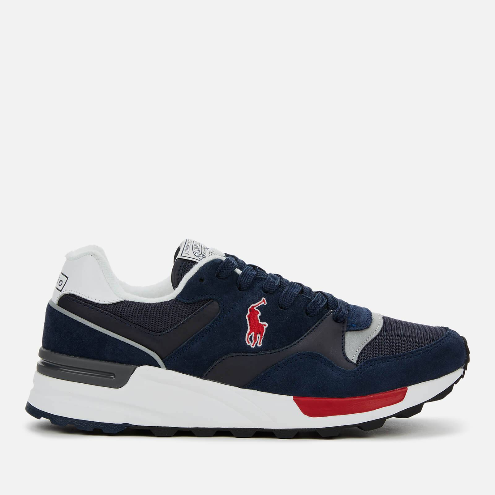 Ralph Lauren Polo Ralph Lauren Men's Trackstar Pony Suede/Mesh Running Style Trainers - Newport Navy - UK 7
