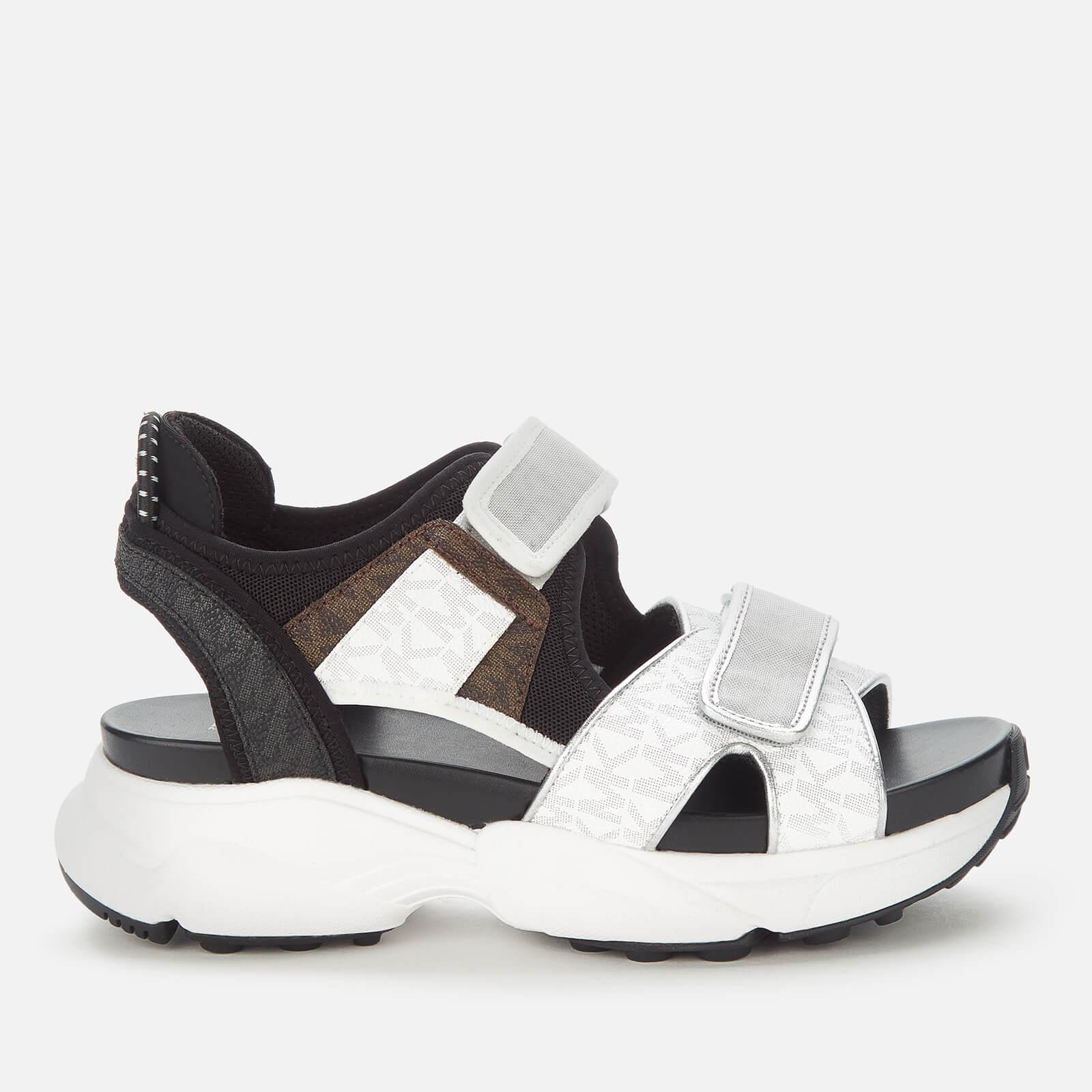 MICHAEL MICHAEL KORS Women's Harvey Chunky Sandals - Bright White - UK 7
