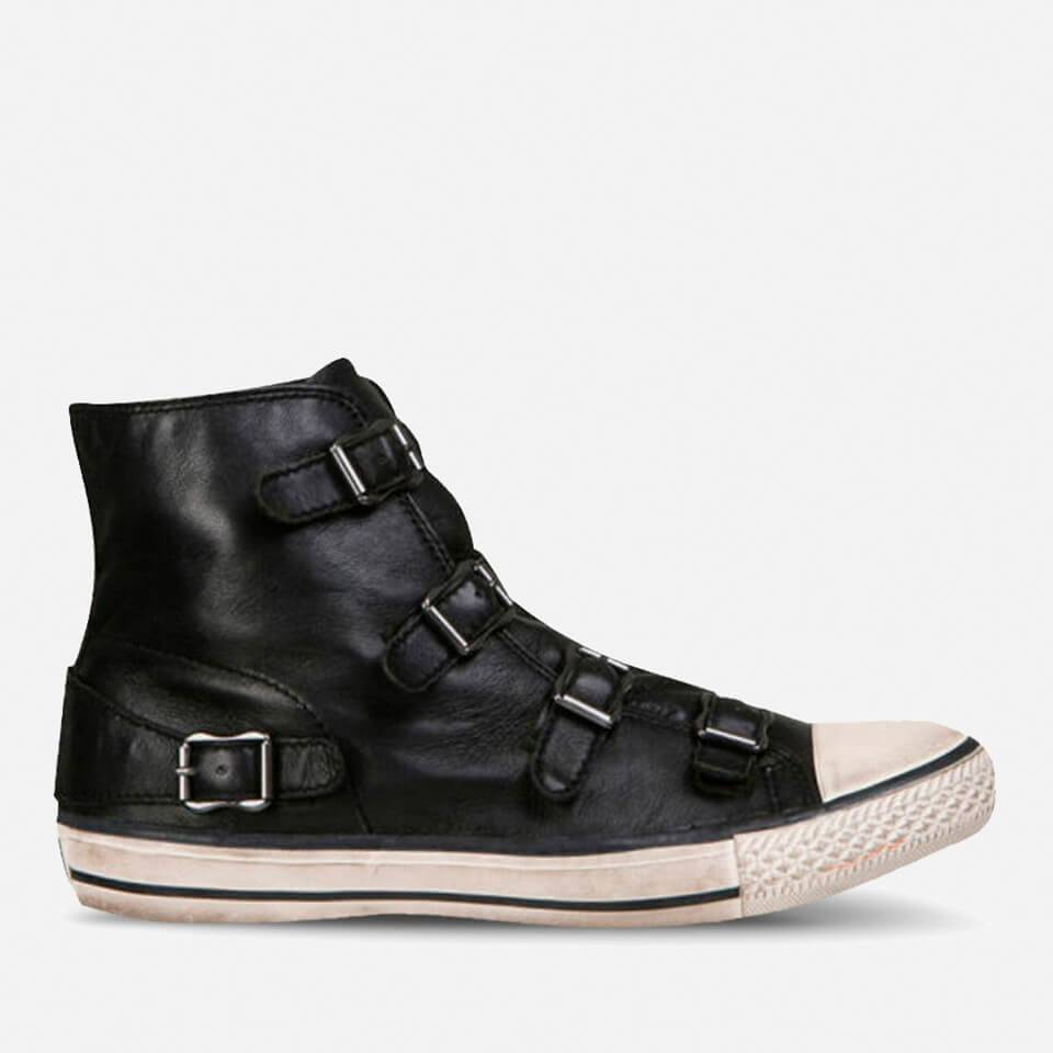 Ash Women's Virgin Leather Hi-Top Trainers - Black - UK 4
