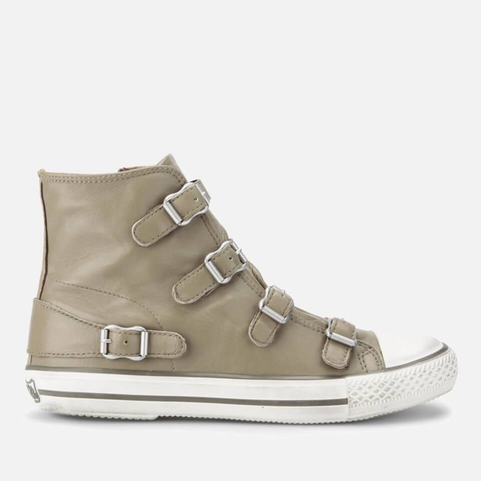 Ash Women's Virgin Leather Hi-Top Trainers - Taupe - 6