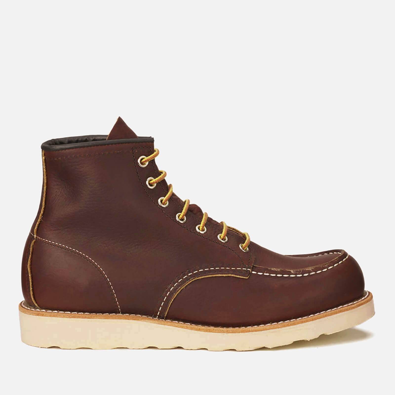 Red Wing Men's 6 Inch Moc Toe Leather Lace Up Boots - Briar Oil Slick - UK 9/US 10