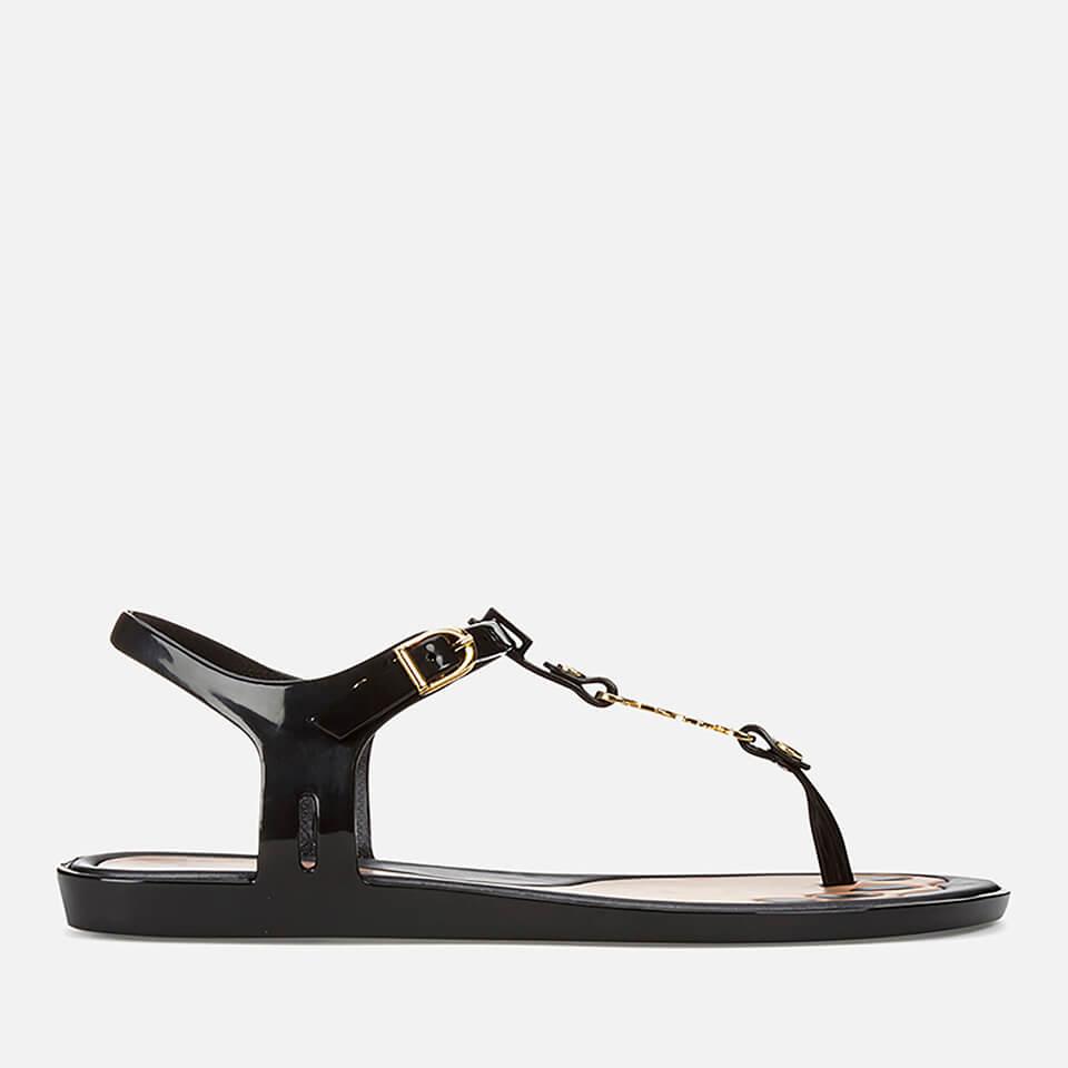 Vivienne Westwood for Melissa Women's Solar 21 Toe Post Sandals - Black Orb - UK 7 - Black