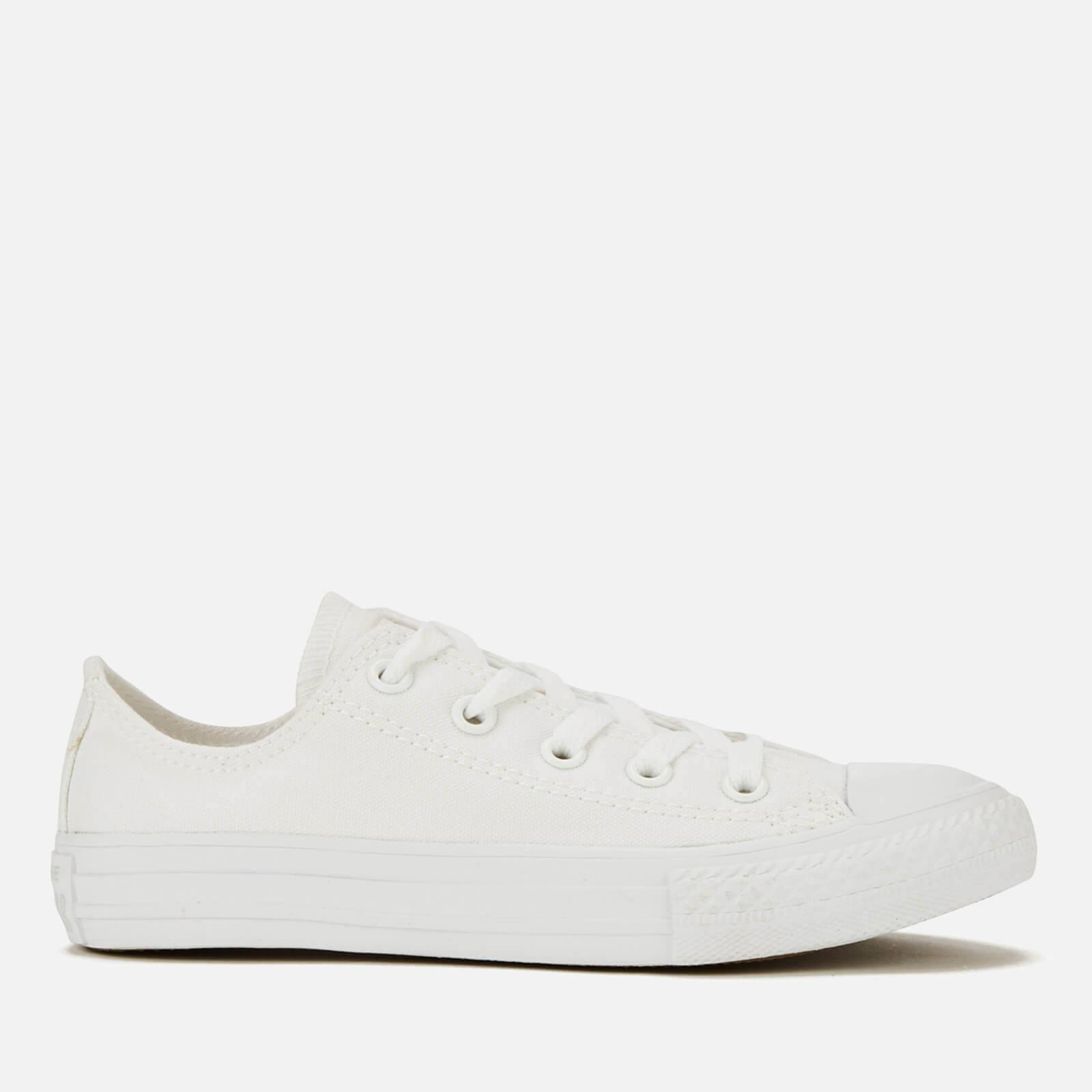 Converse Kids' Chuck Taylor All Star Canvas Ox Trainers - White - UK 10.5 Kids - White