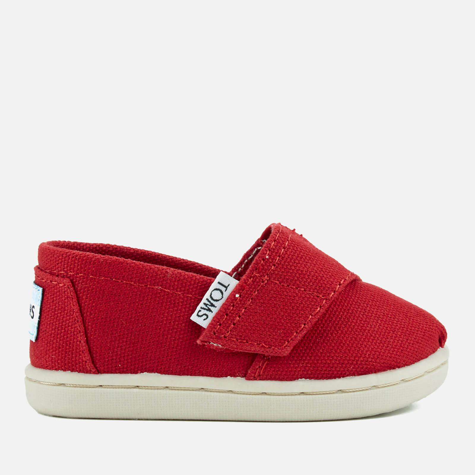 TOMS Toddlers' Seasonal Classics Slip-On Pumps - Red - UK 3/US 4 Toddlers