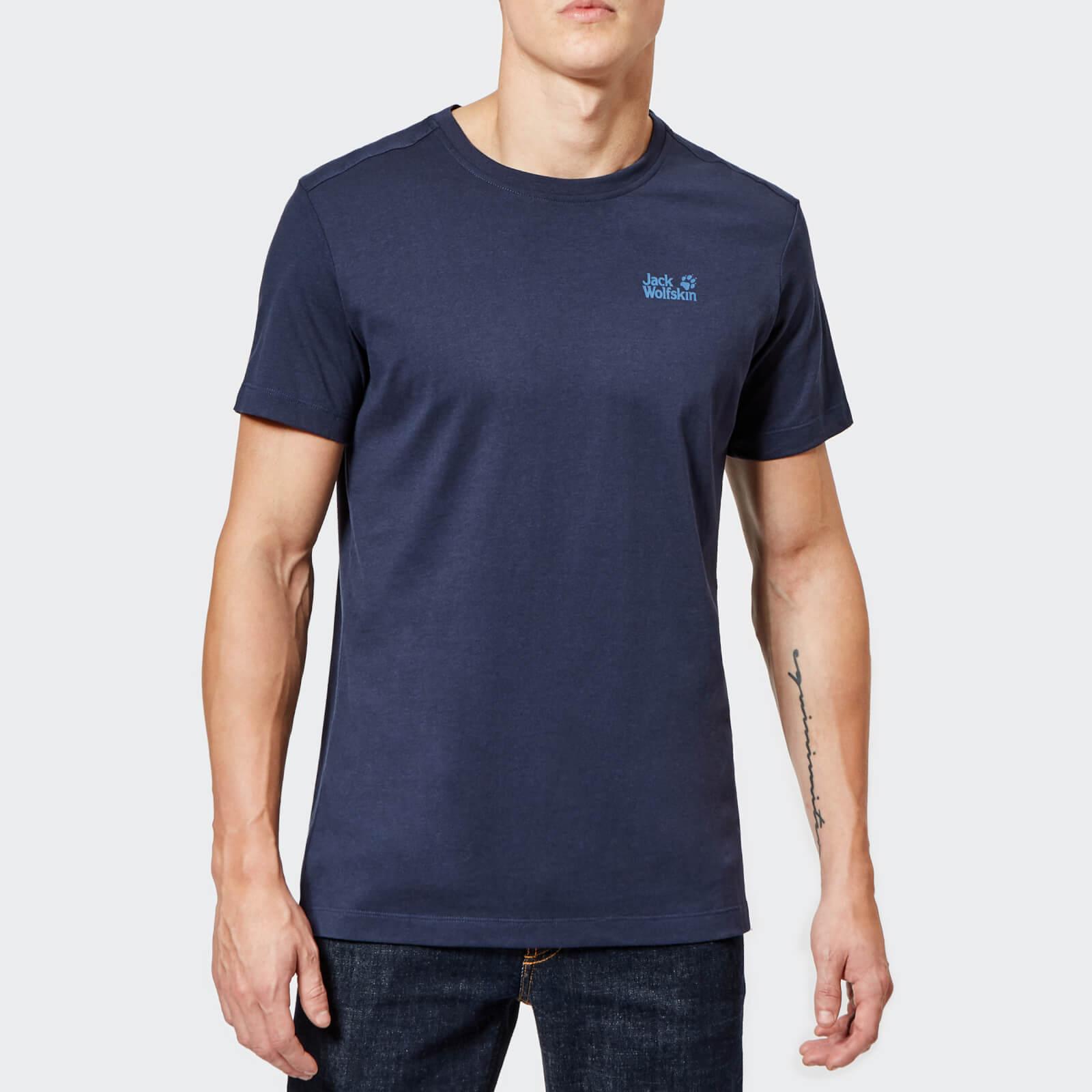 Jack Wolfskin Men's Essential Short Sleeve T-Shirt - Night Blue - S - Blue