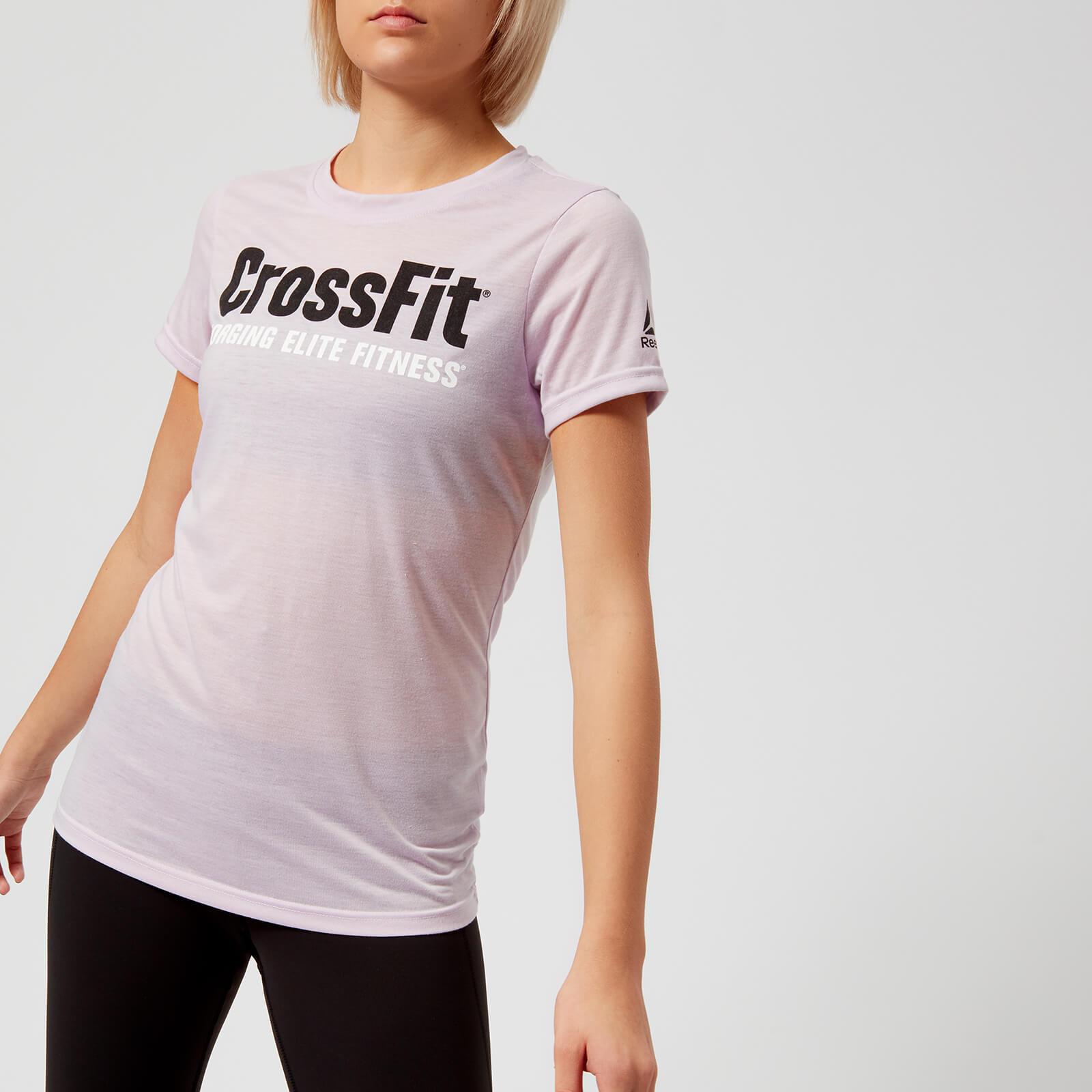 Reebok Women's CrossFit Speedwick Short Sleeve T-Shirt - Quartz-Ash - XS - Purple