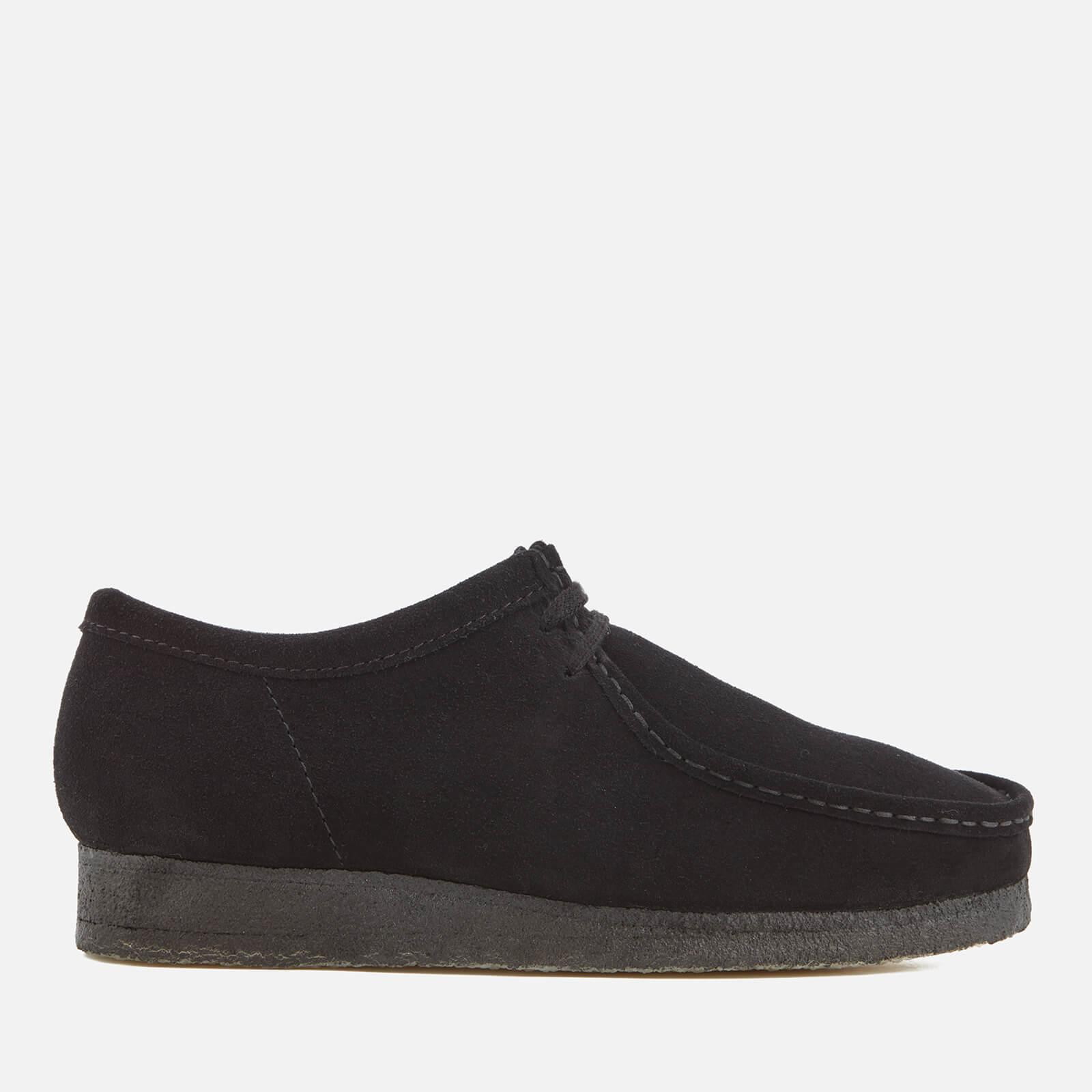 Clarks Originals Men's Wallabee Suede Shoes - Black - UK 7 - Black