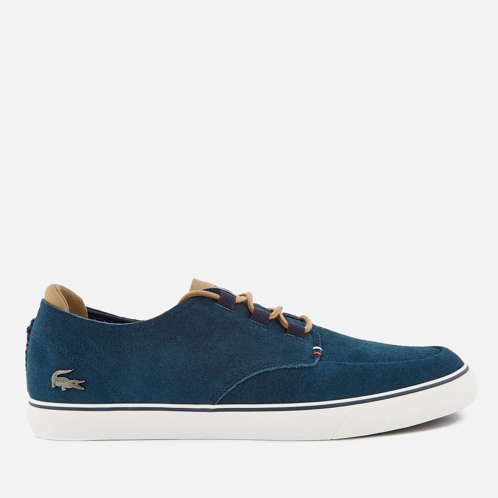 Lacoste Men's Esparre Deck 118 1 Suede Boat Shoes - Navy/Light Brown - UK 11 - Navy
