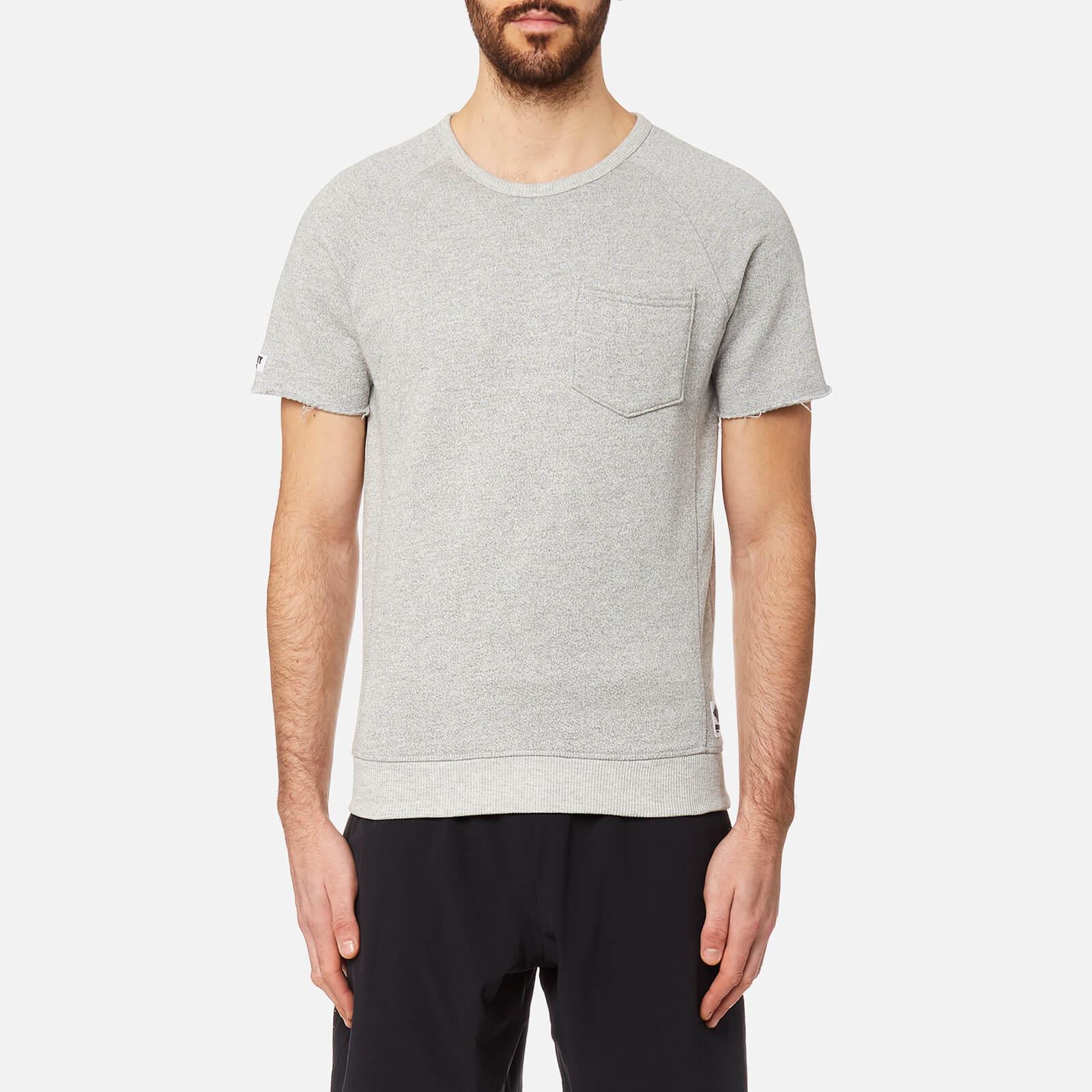 Superdry Men's Sport Gym Locked Short Sleeve Sweatshirt - Gym Grey Grit - L - Grey