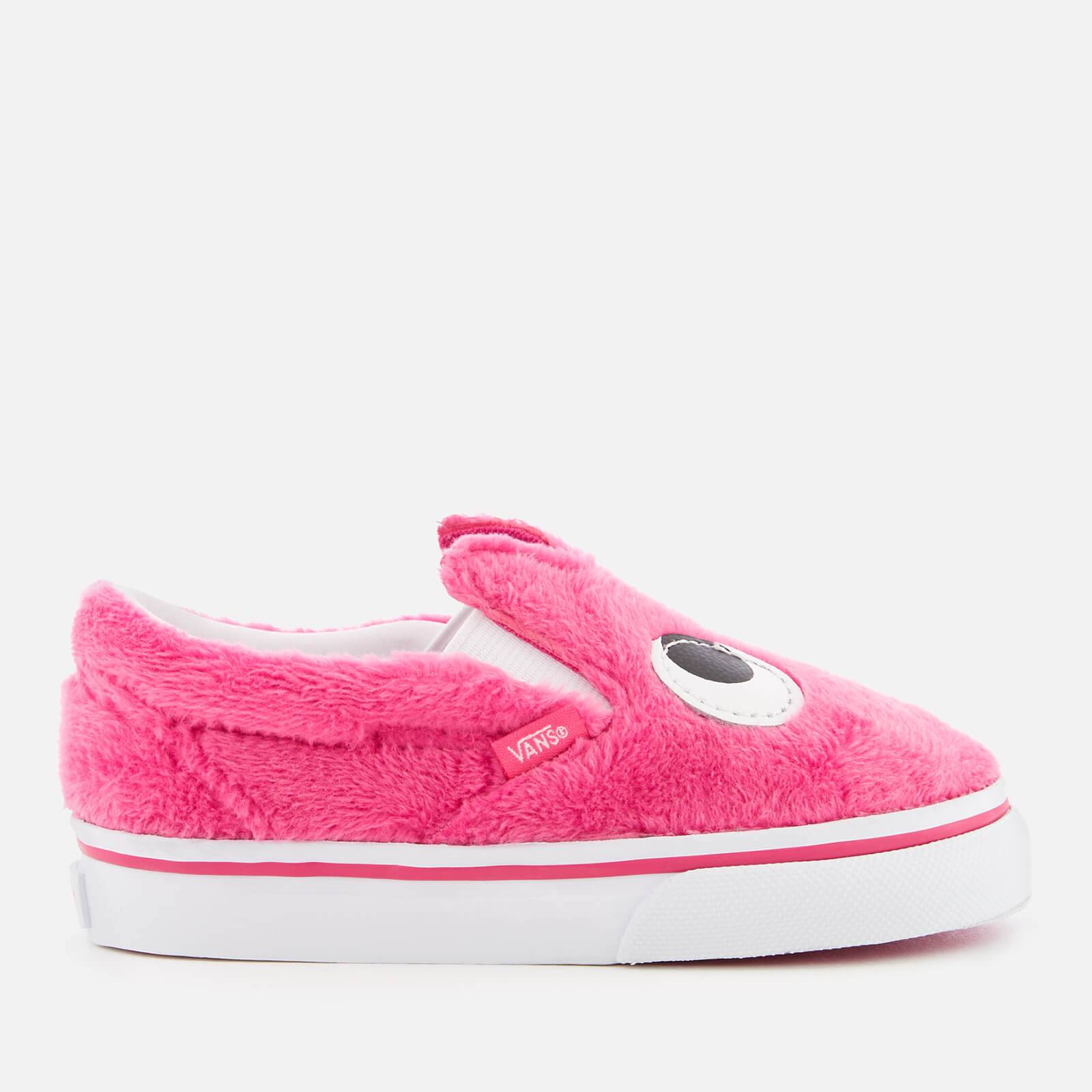 Vans Toddlers' Slip-On Friend Party Fur Trainers - Magenta/True White - UK 3 Toddler - Pink