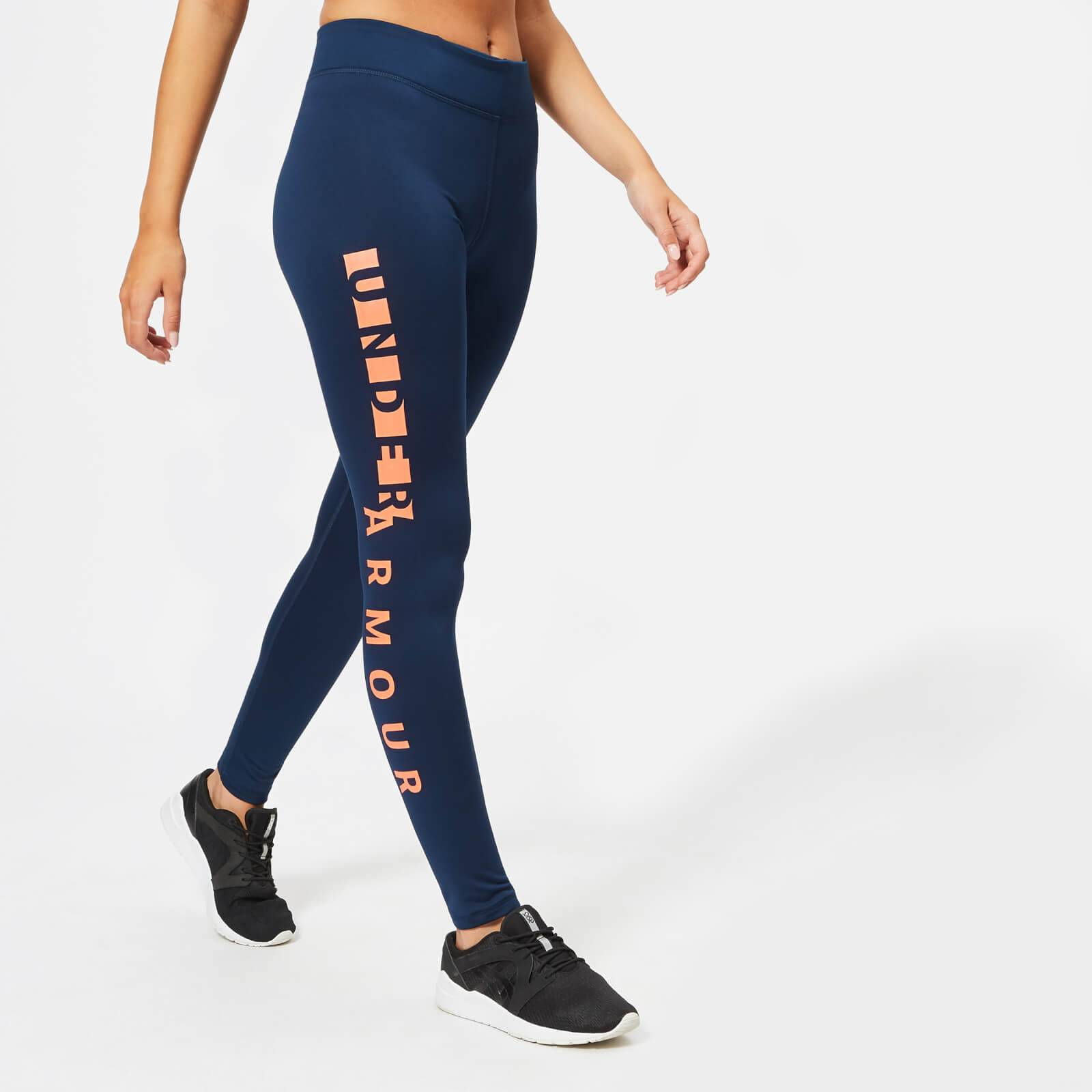 Under Armour Women's Cold Gear Leggings - Academy/After Burn/Silver - XS - Blue