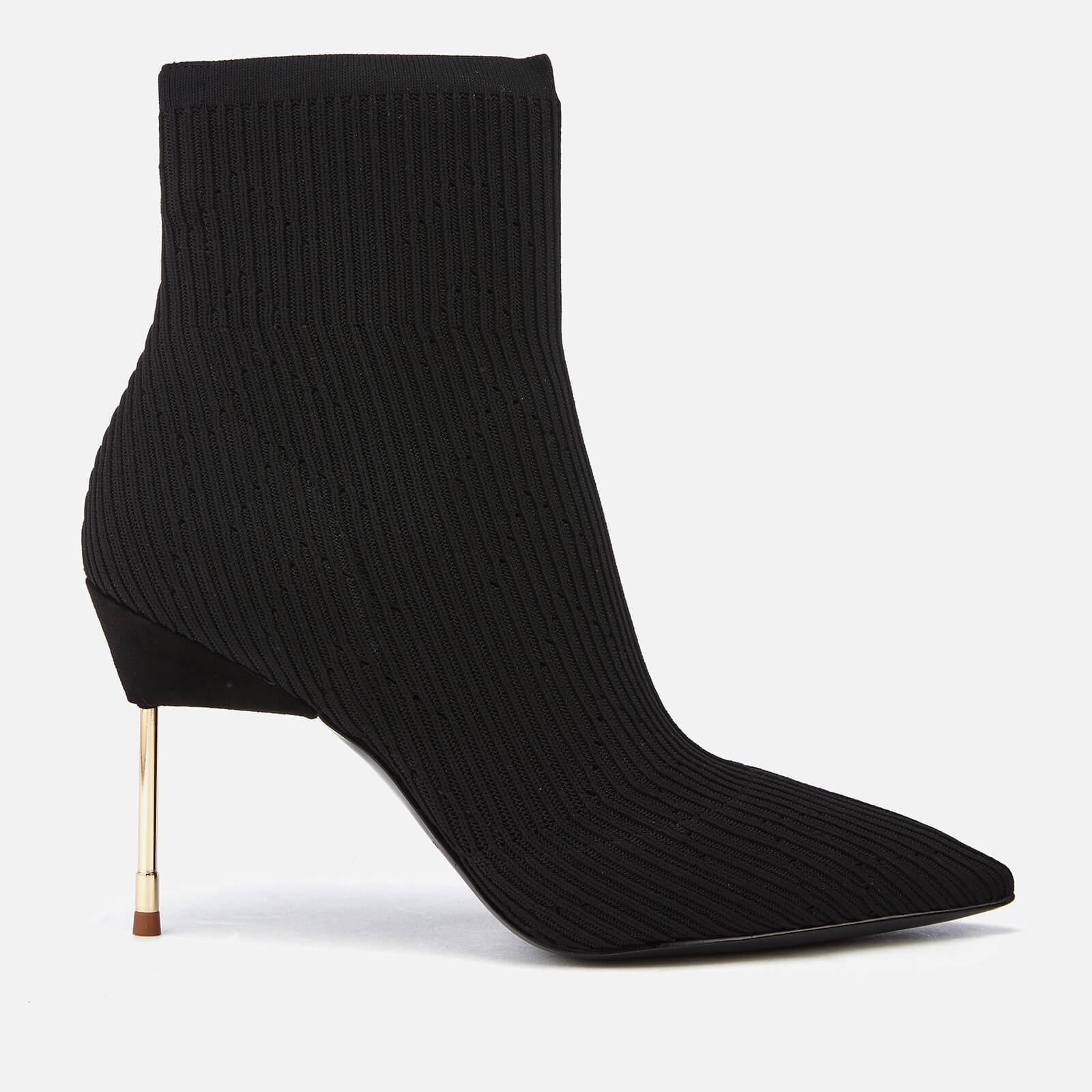 Kurt Geiger London Women's Barbican Stretch Heeled Ankle Boots - Black - UK 4