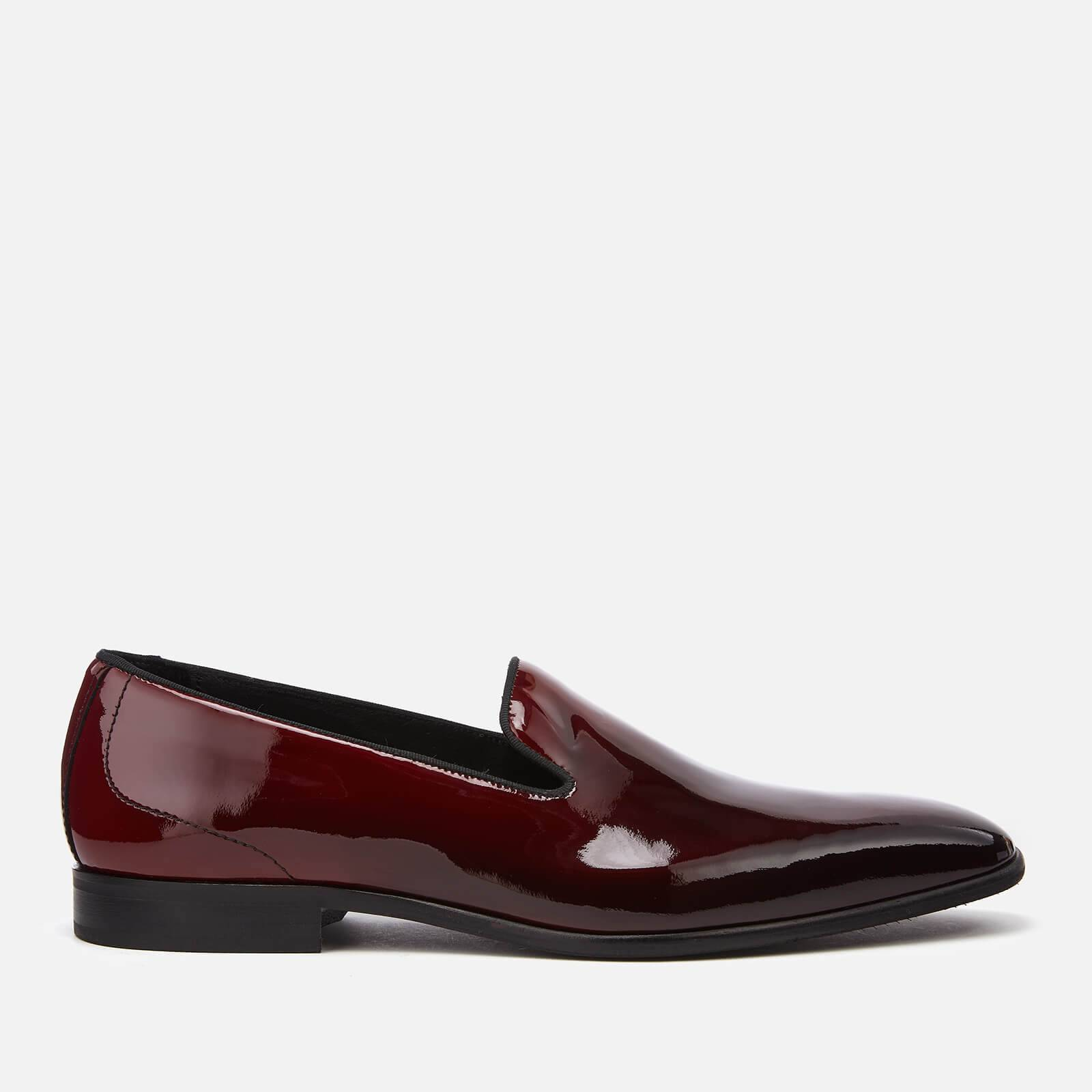 Kurt Geiger London Men's Radleigh Leather Loafers - Black/Red - UK 9 - Black/Red