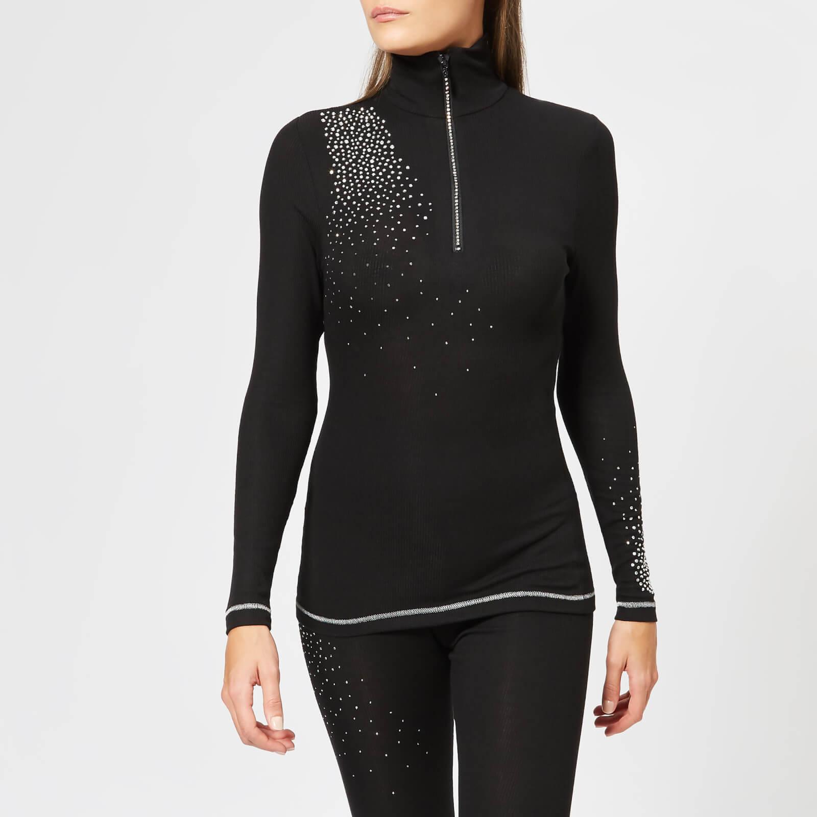 S'No Queen Women's Classic Zip Polo Shirt - Black - S - Black