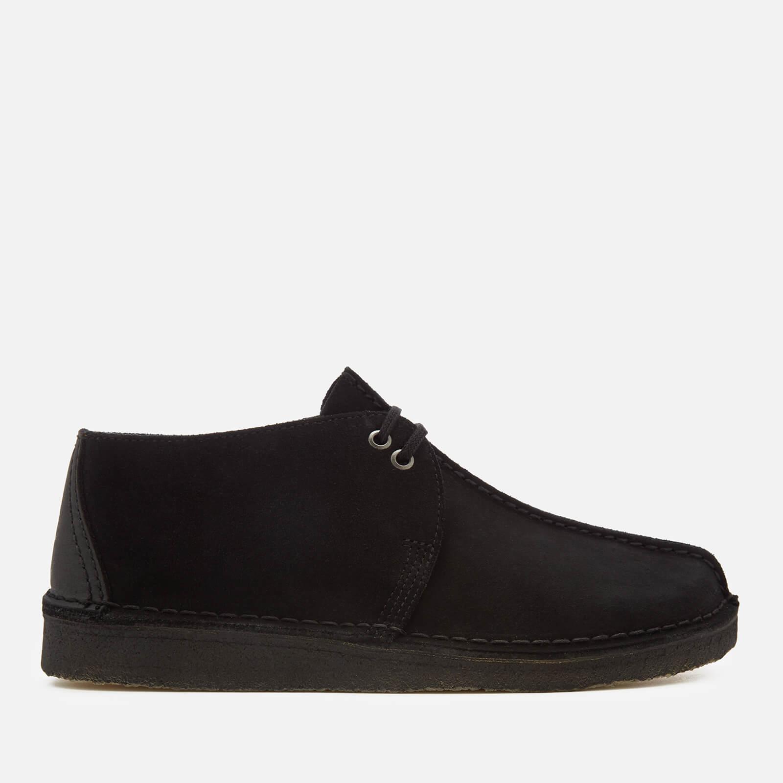 Clarks Originals Men's Desert Trek Suede Shoes - Black - UK 7