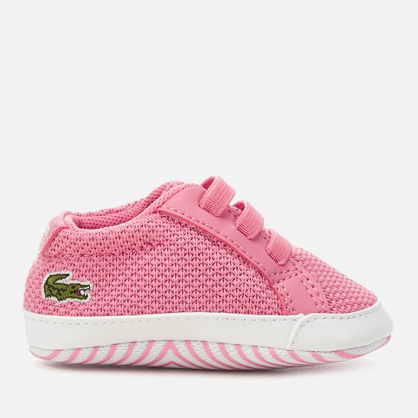 Lacoste Babies' L.12.12 Crib 318 1 Trainers - Pink/White - UK 3 Baby - Pink