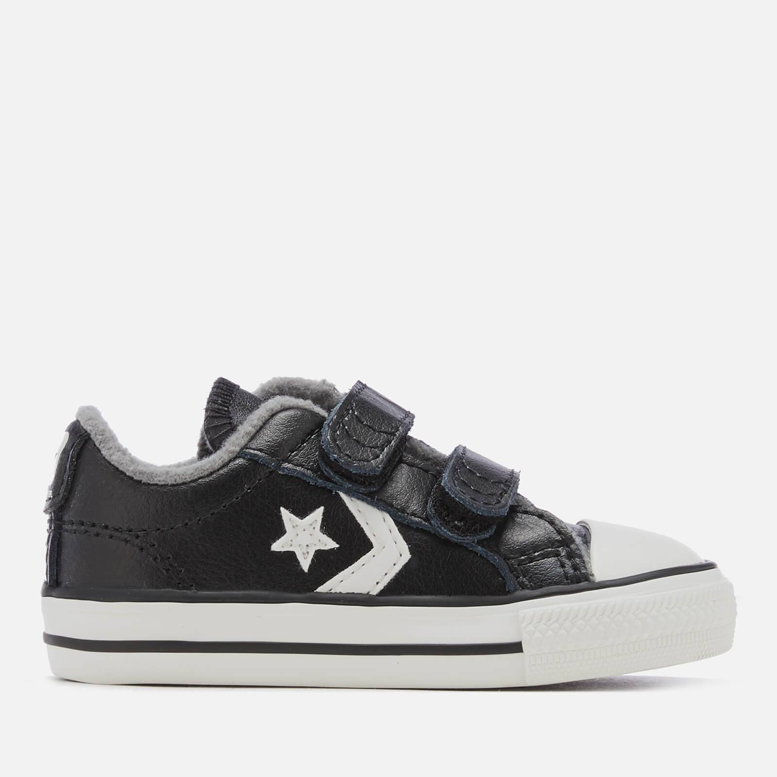 Converse Toddlers' Star Player 2V Ox Trainers - Black/Mason/Vintage White - UK 2 Toddler - Black