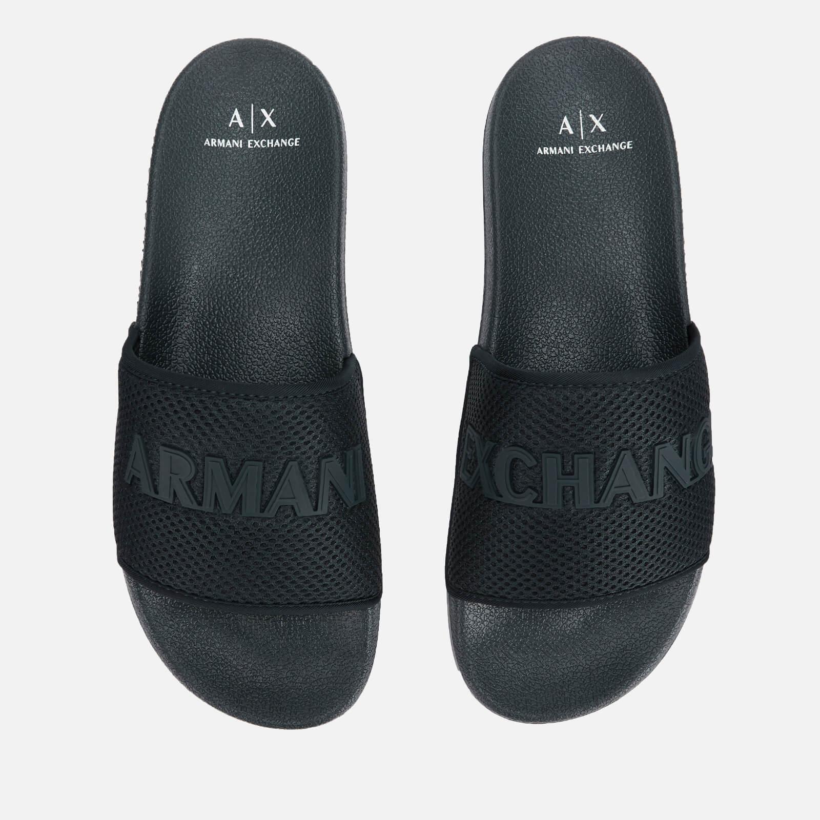 Armani Exchange Men's Mesh Slide Sandals - Dress Blue - UK 8 - Blue