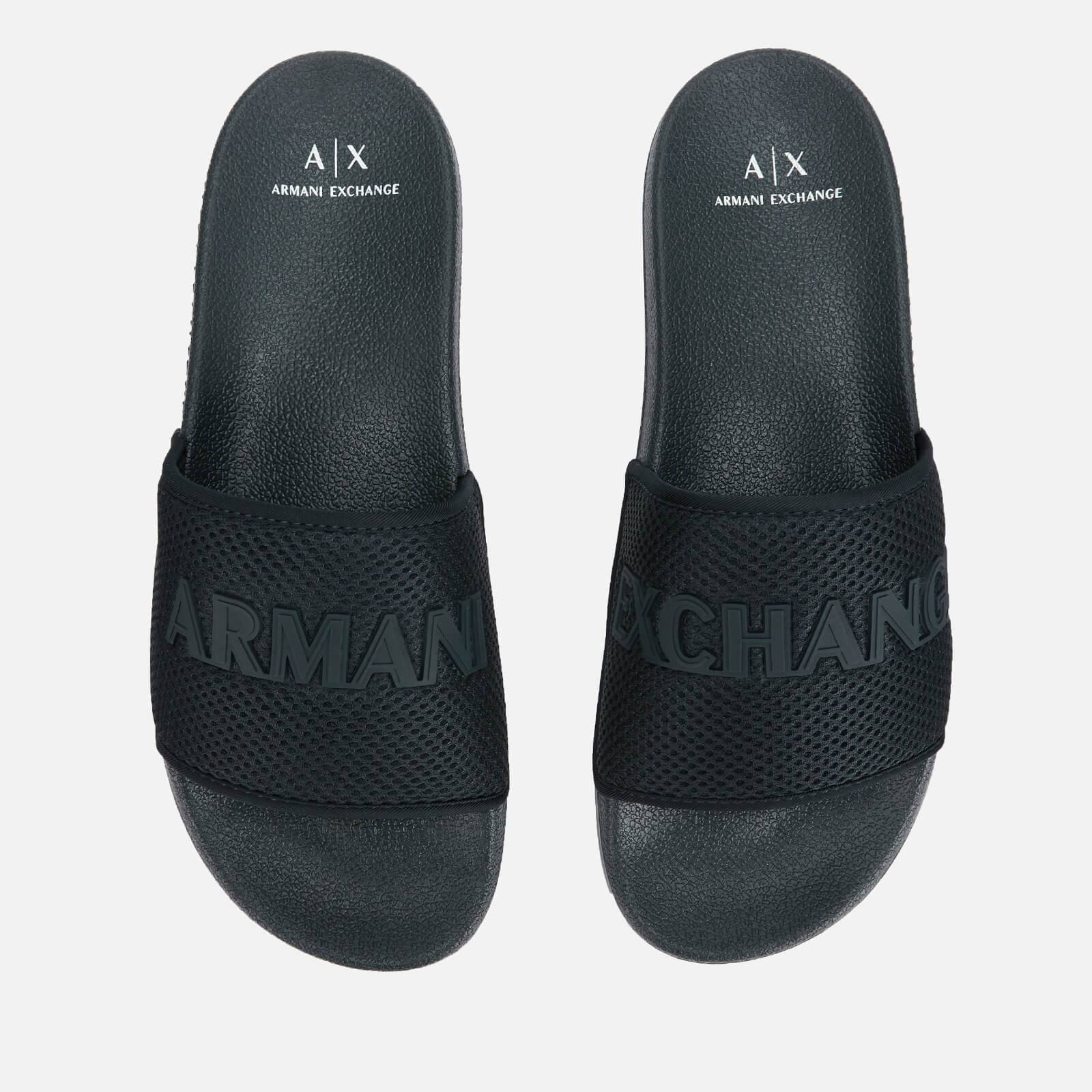 Armani Exchange Men's Mesh Slide Sandals - Dress Blue - UK 7 - Blue