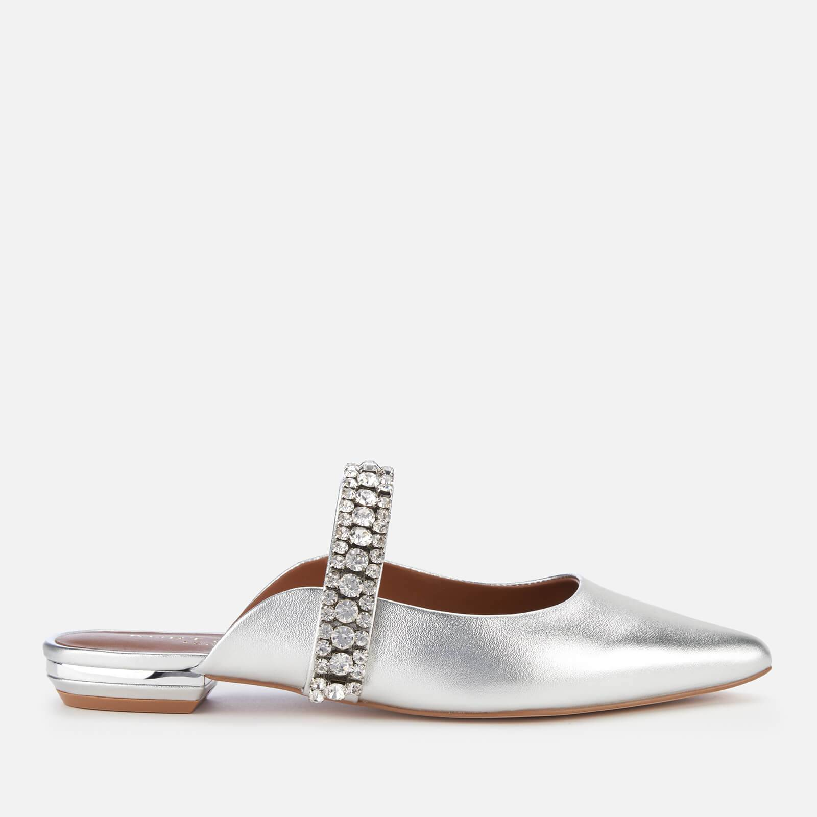 Kurt Geiger London Women's Princely Leather Pointed Mules - Silver - UK 7 - Silver