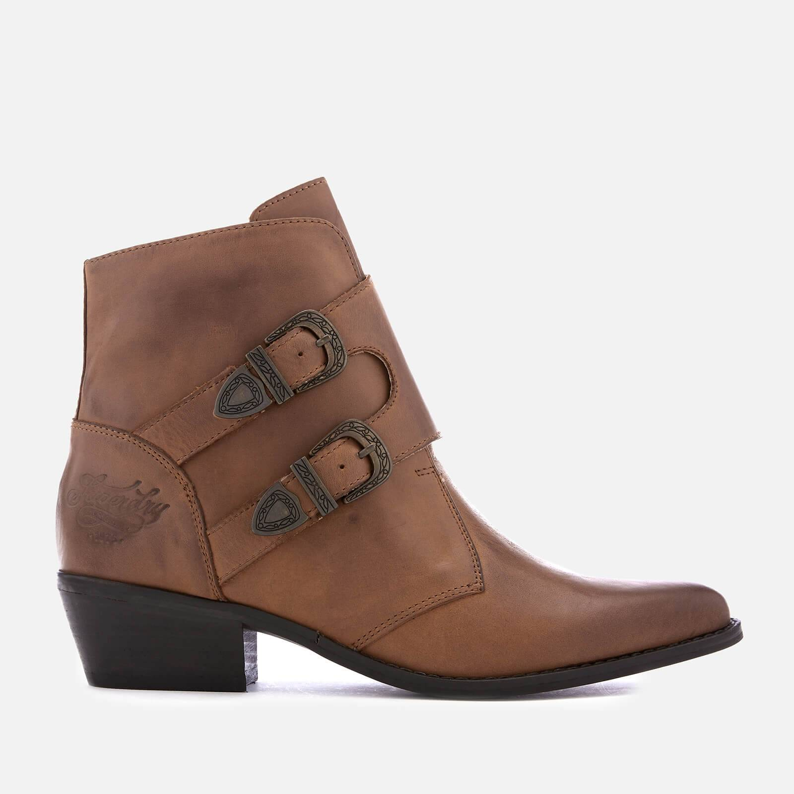 Superdry Women's Rodeo Monk Heeled Ankle Boots - Tan - UK 3 - Tan