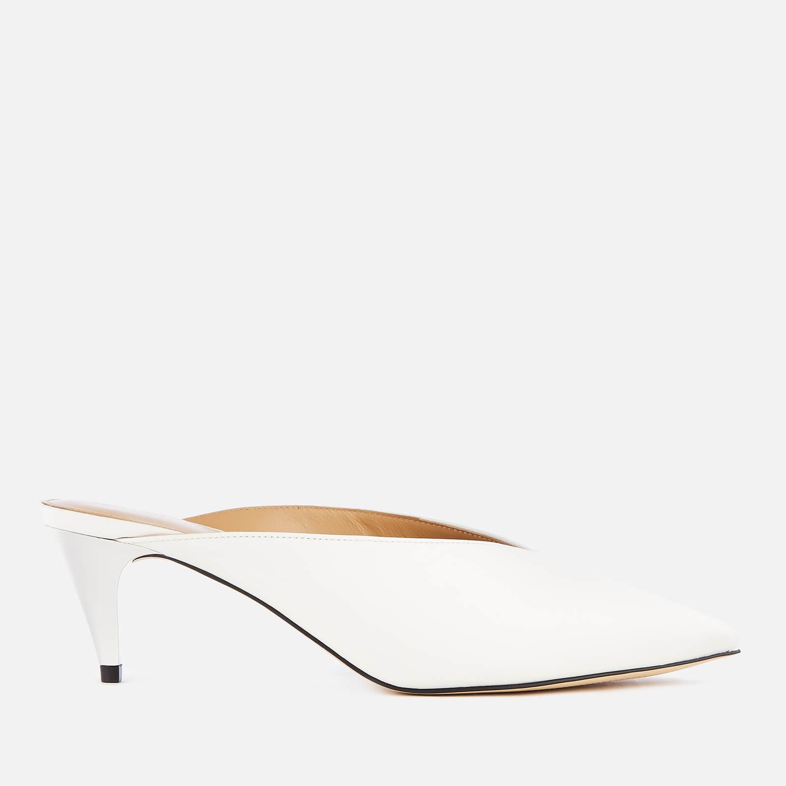 MICHAEL MICHAEL KORS Women's Cambria Leather Mules - Optic White - UK 5/US 8 - White