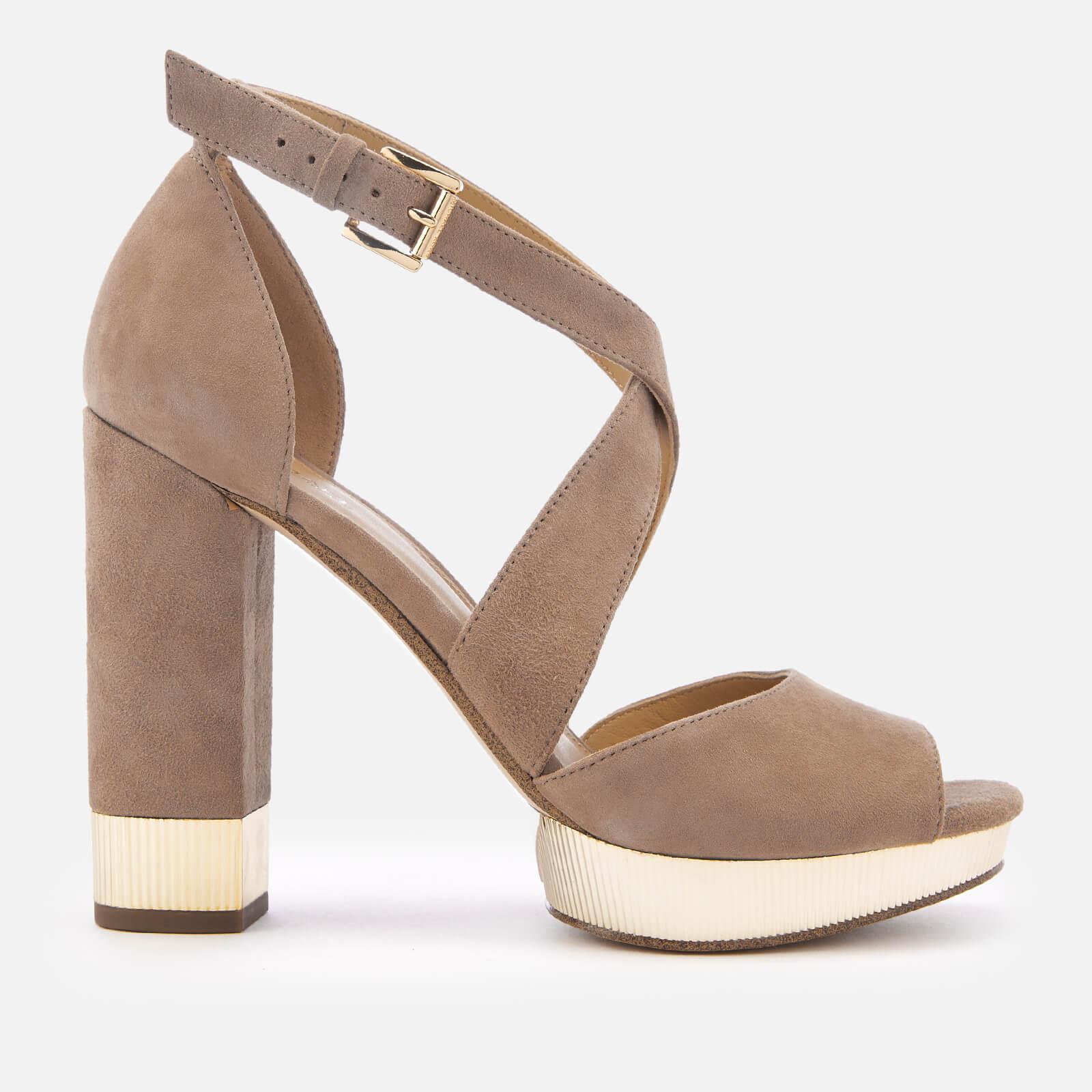 MICHAEL MICHAEL KORS Women's Valerie Platform Heeled Sandals - Dark Khaki - UK 7/US 10 - Beige